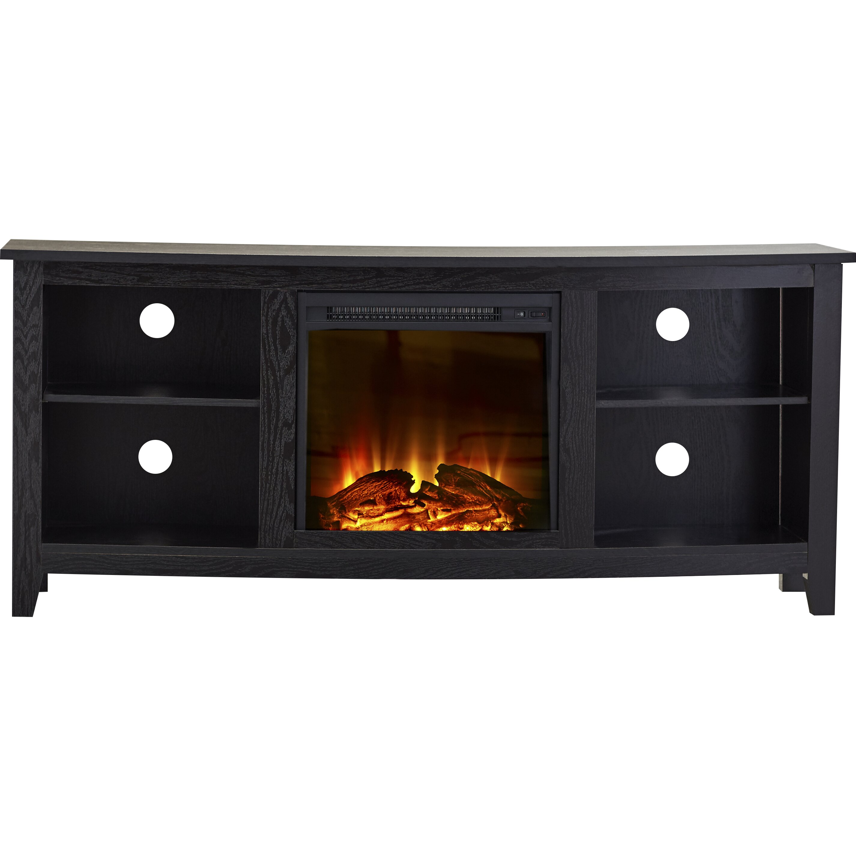 mccall tv stand with electric fireplace wayfair