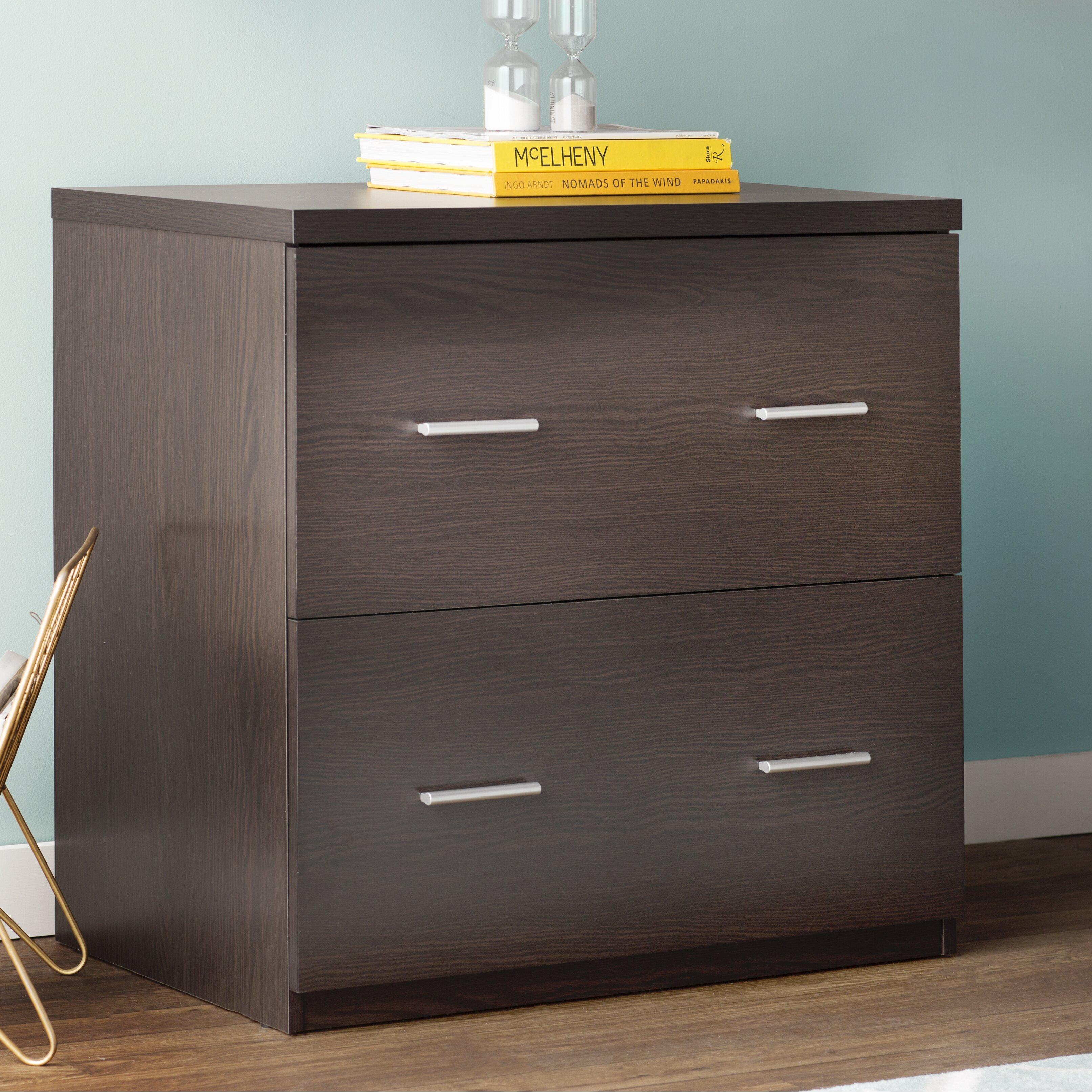 latitude run magdalena 2 drawer lateral file cabinet. Black Bedroom Furniture Sets. Home Design Ideas