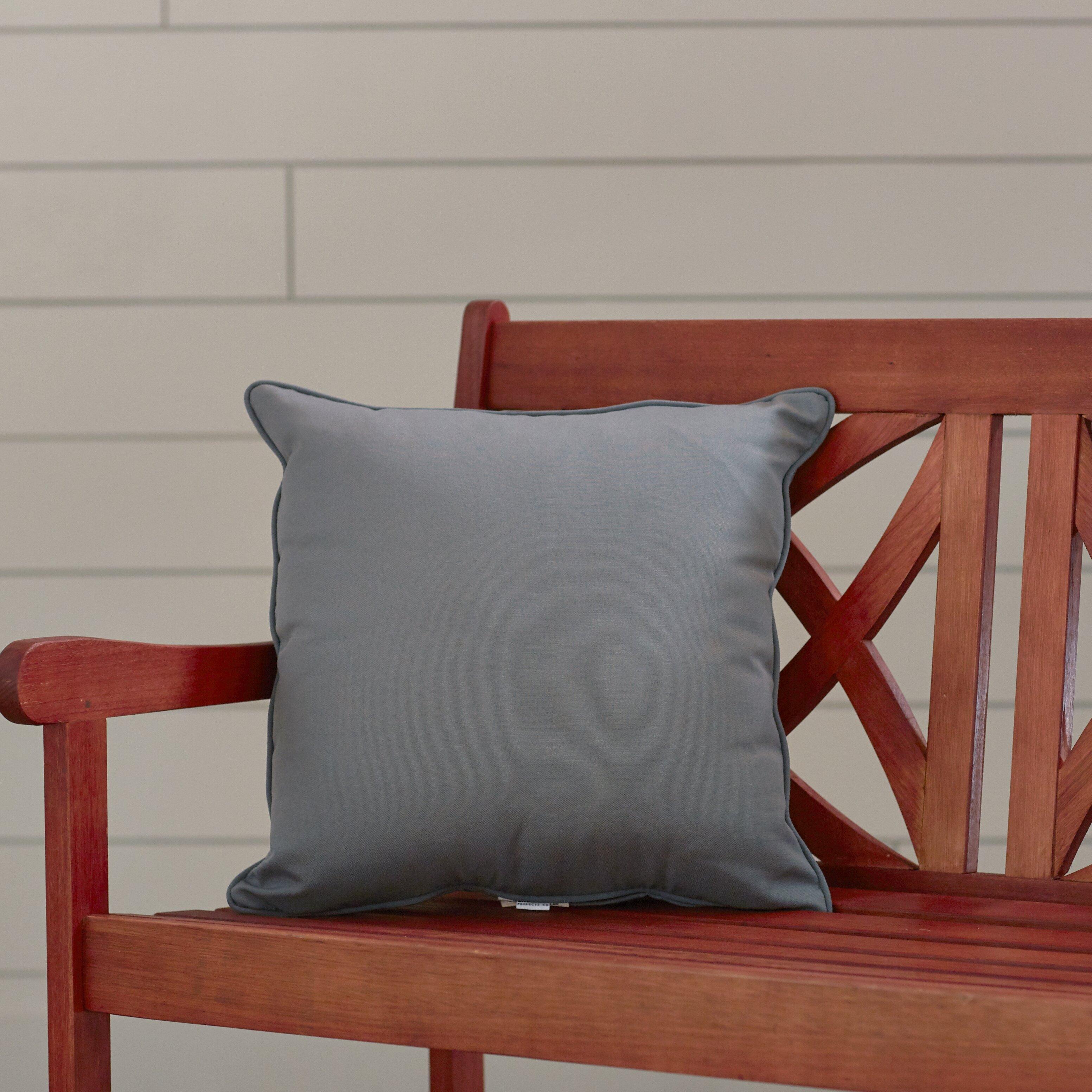 Wayfair Custom Outdoor Cushions Outdoor Solid Throw Pillow