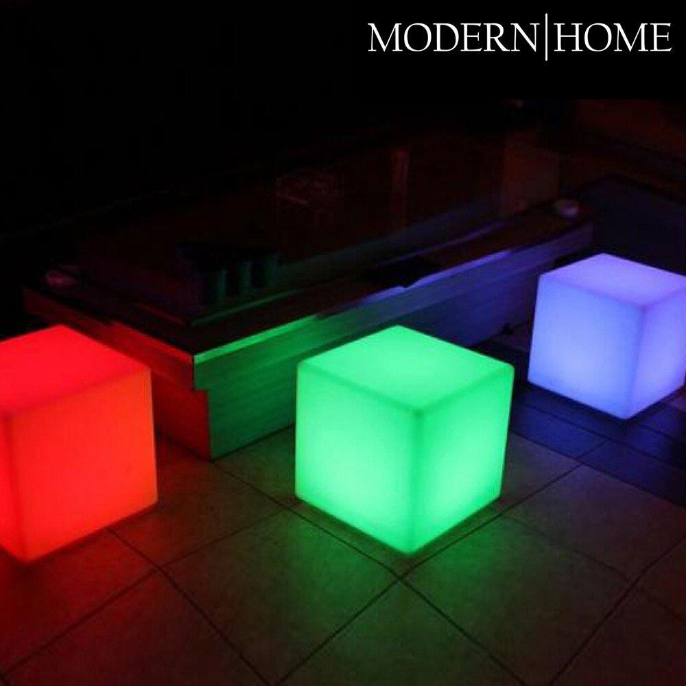 Modern Home Led Glowing Cube Box Stool Wayfair Ca