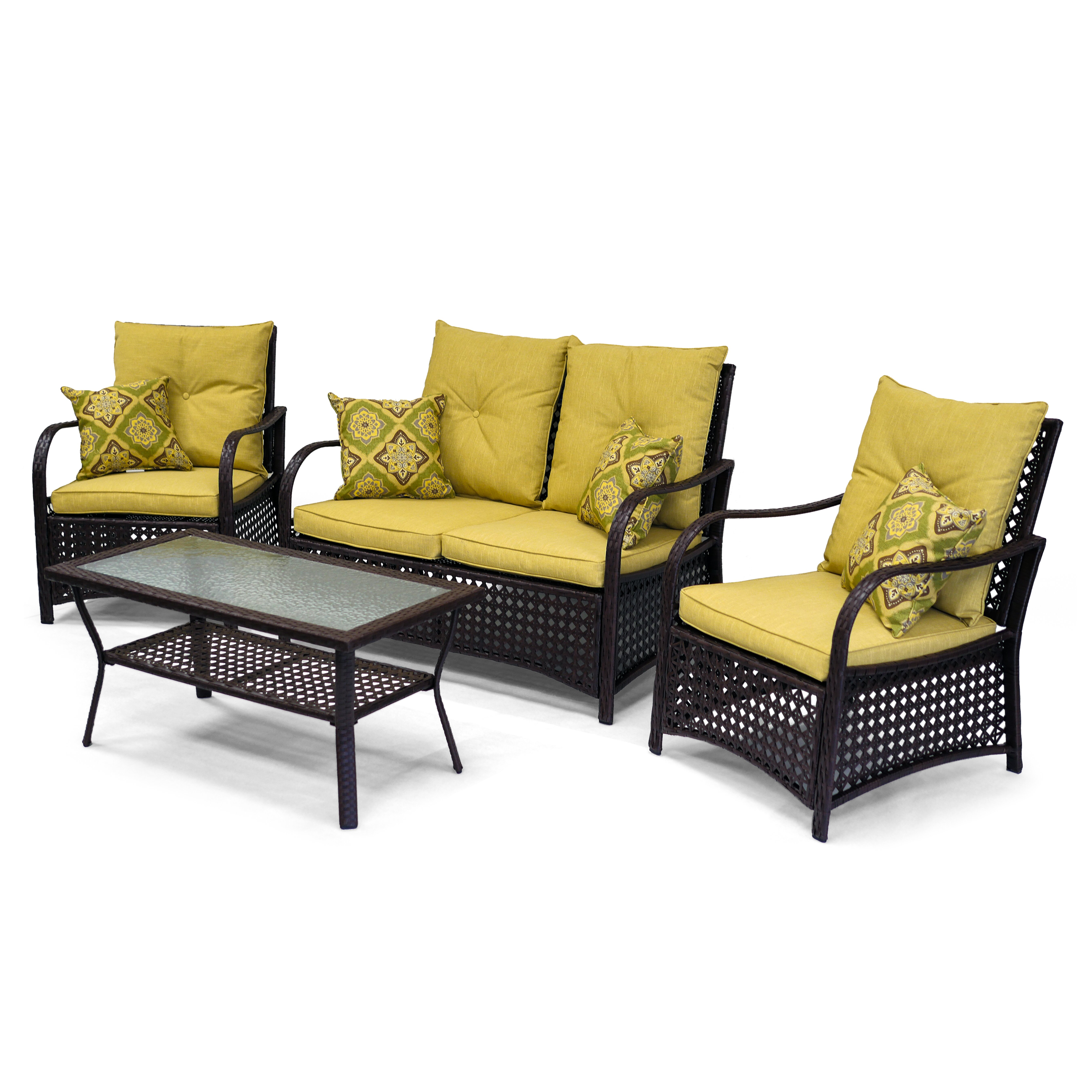 clubhouse 4 piece deep seating group wayfair