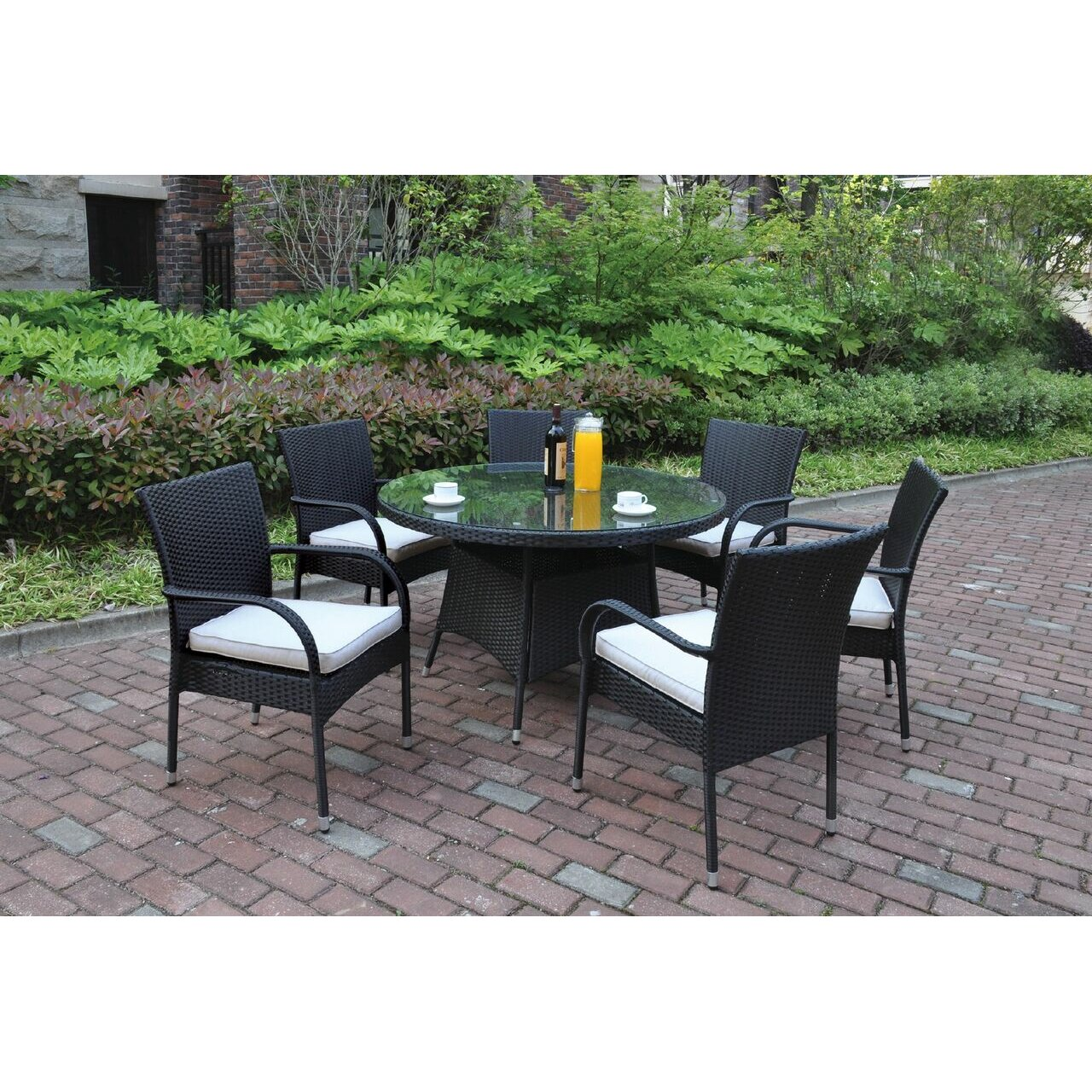 outdoor patio furniture six person patio dining sets jb patio sku