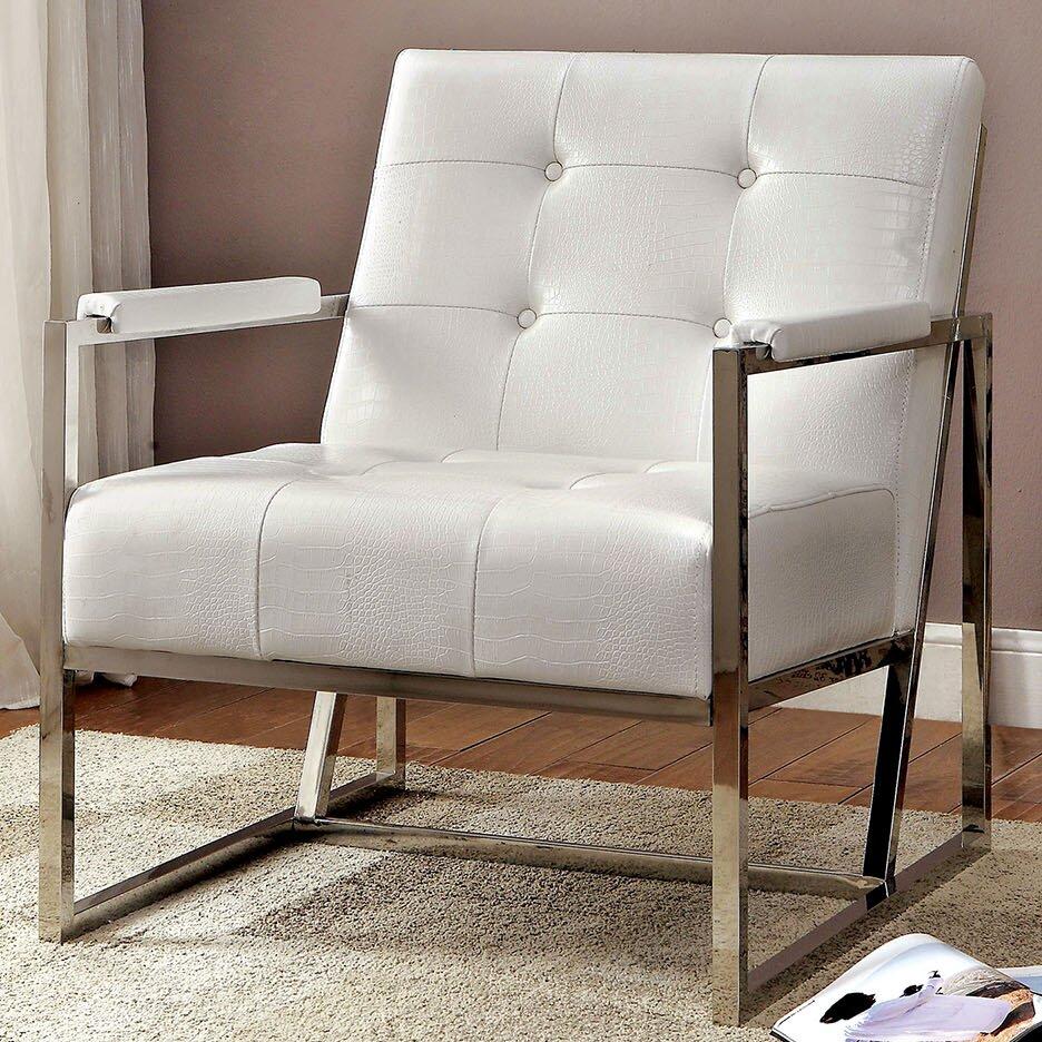 Neo Tufted Leather Arm Chair Wayfair