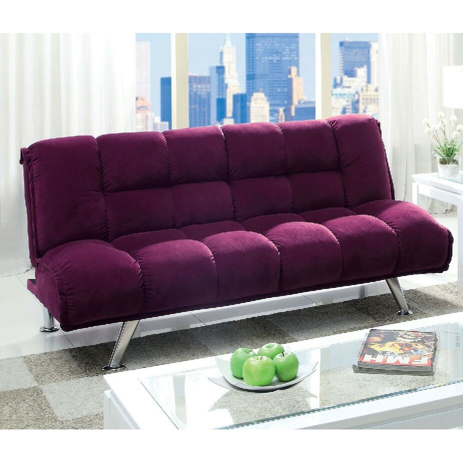 homes studio dorries tufted flannelette sleeper sofa