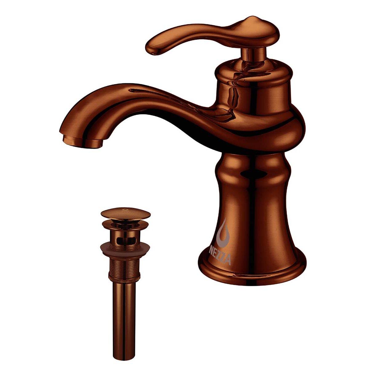 Brass Single Handle Bathroom Faucet : Mamba Single Handle Bathroom Sink Brass Faucet with Drain Assembly by ...