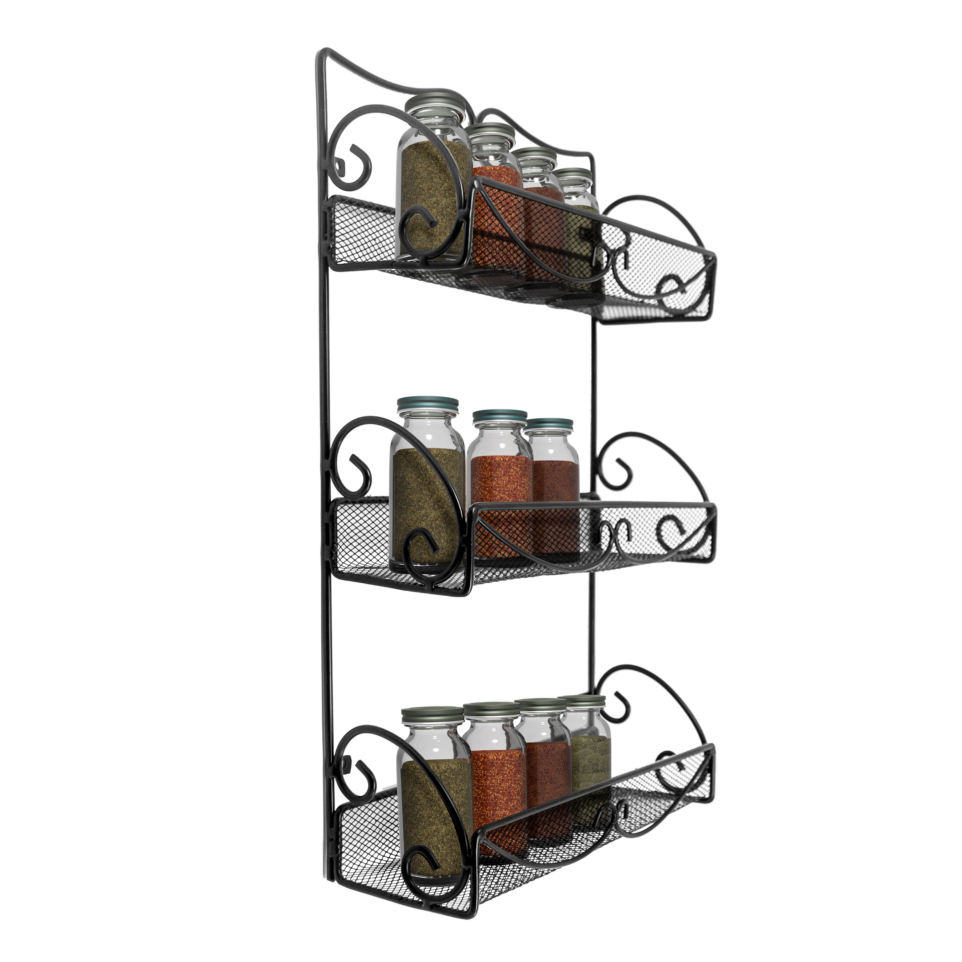 sorbus wall mounted spice rack reviews wayfair. Black Bedroom Furniture Sets. Home Design Ideas