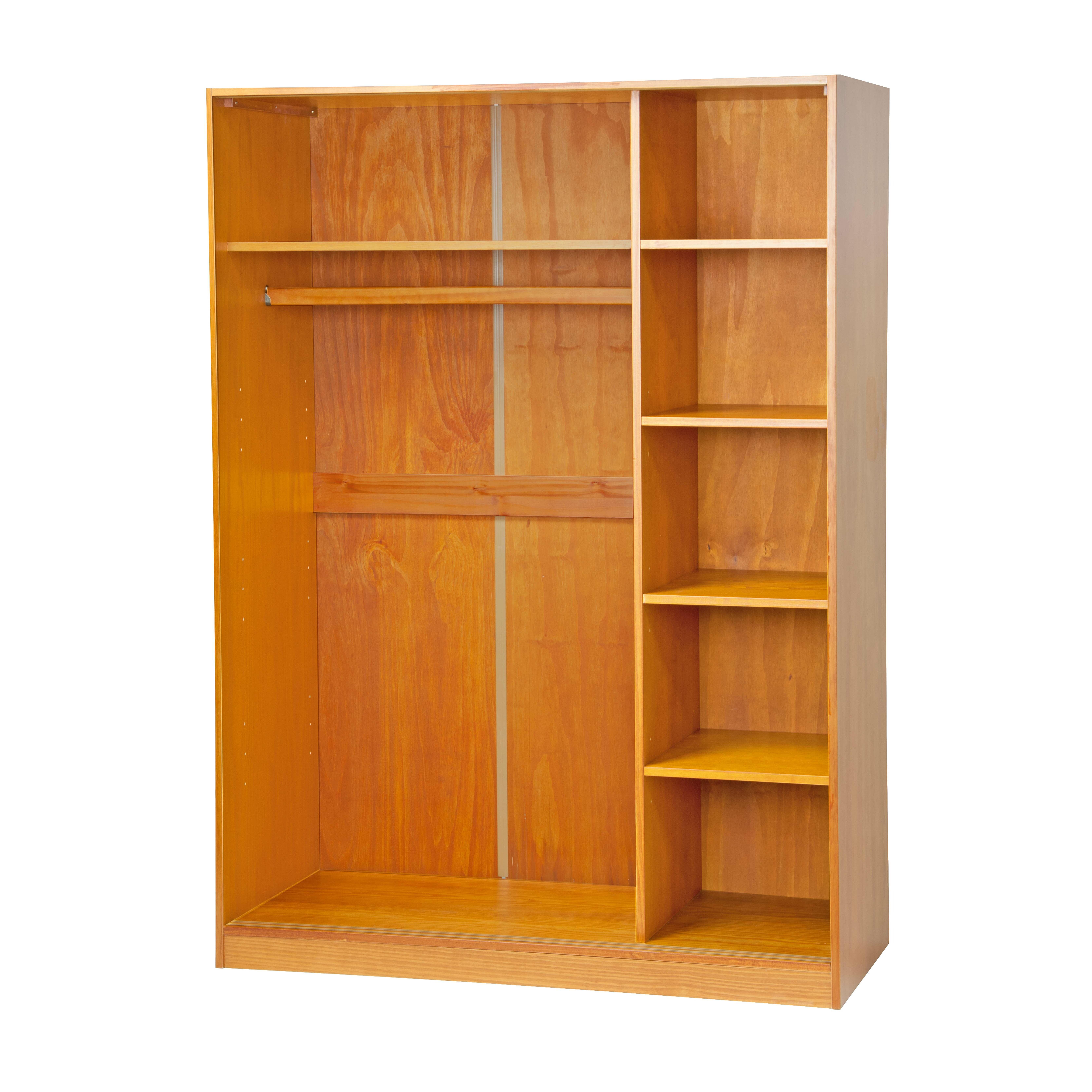 wardrobe wardrobe palaceimports armoire reviews wayfair  -  solid wood smart wardrobe armoire closet