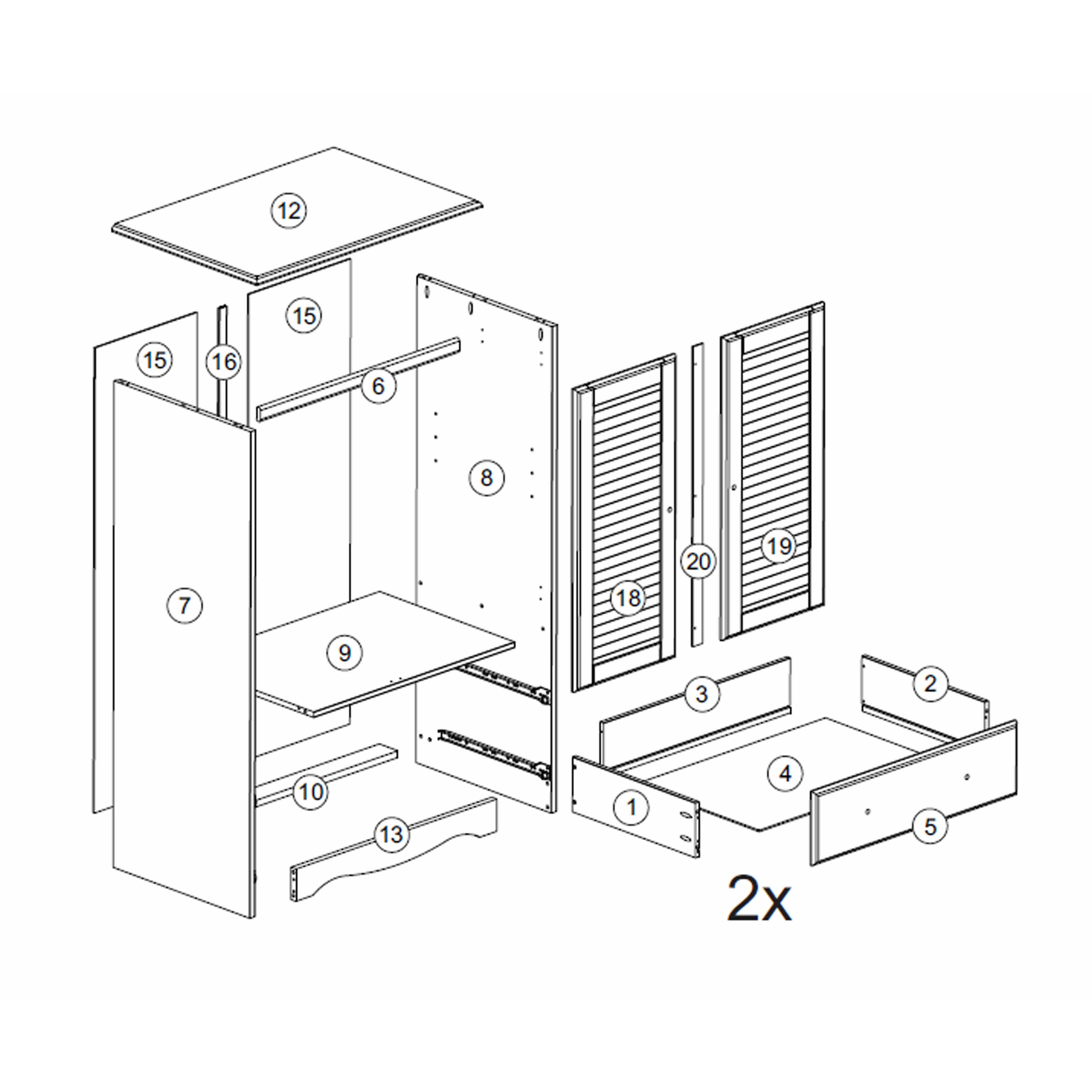 petite armoire wayfair. Black Bedroom Furniture Sets. Home Design Ideas