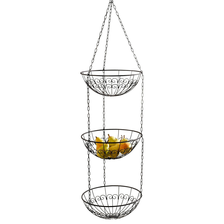 wire hanging kitchen fruit basket