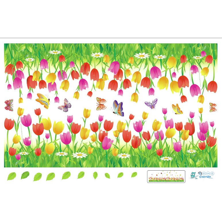 tulip border wall stickers -#main