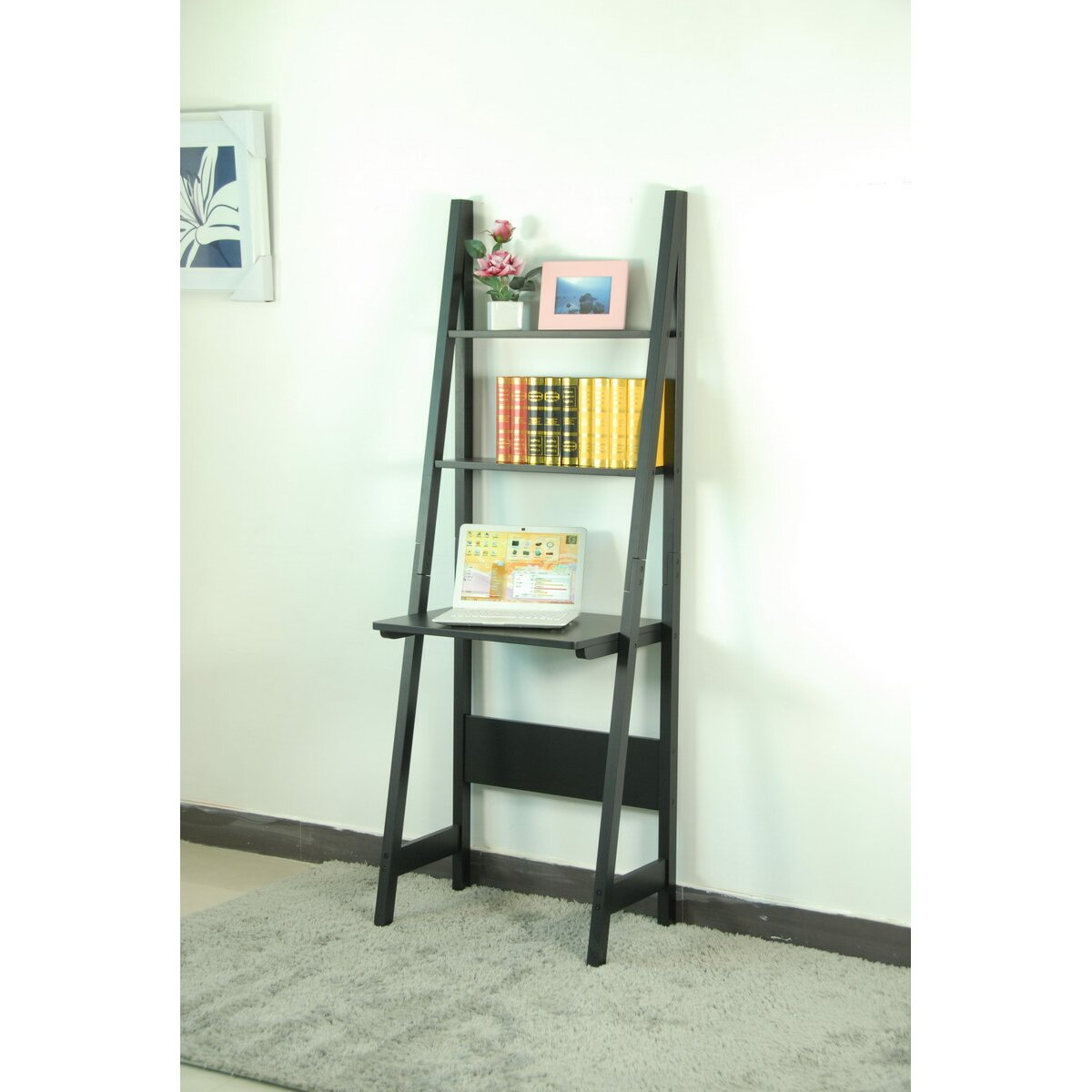 Bookcase Computer Desk: Computer Desk With Bookcase