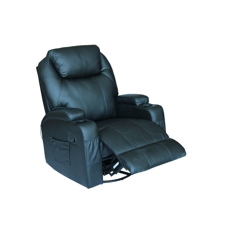 Exacme Leather Reclining Massage Chair Reviews Wayfair