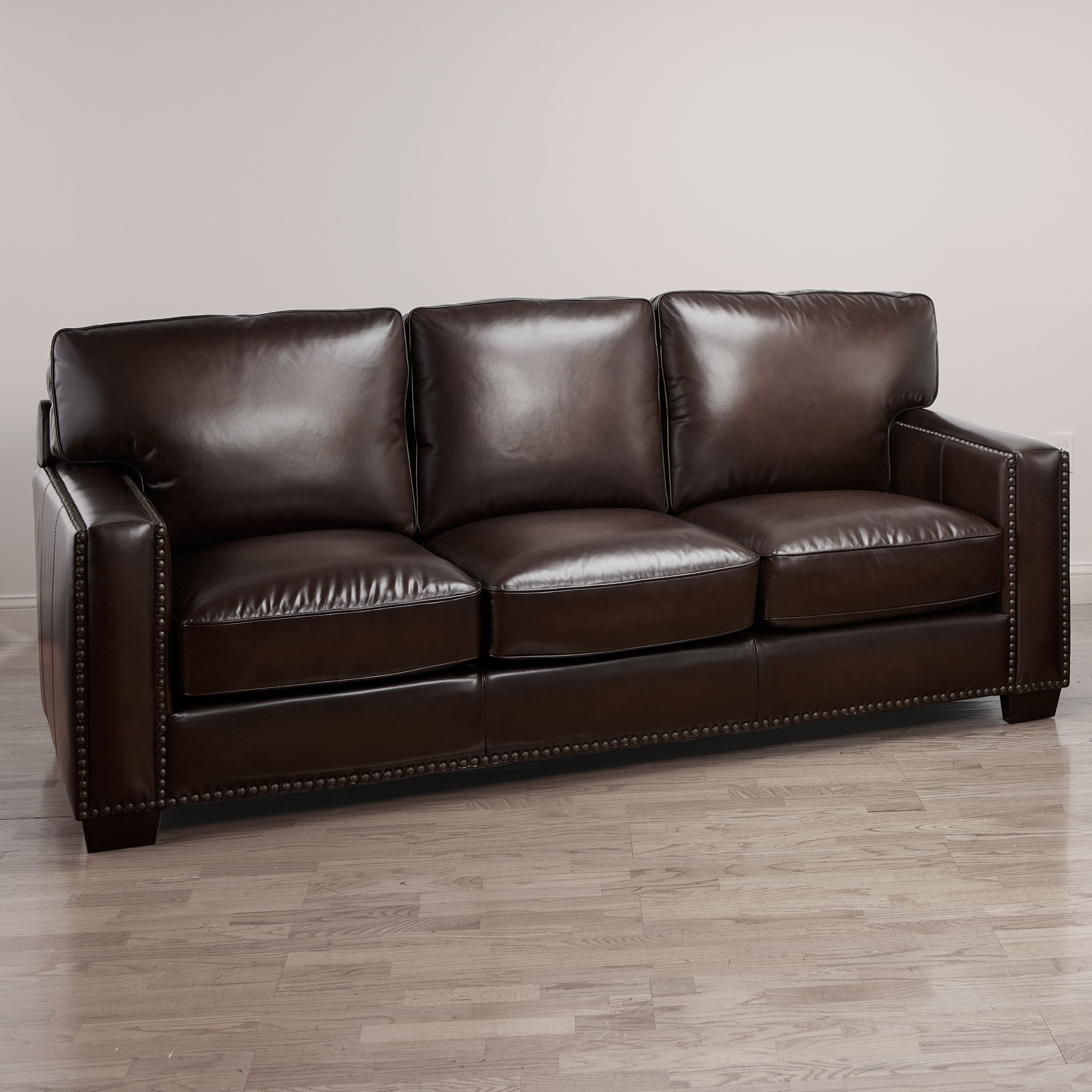 Decoro Campaign Stationary Leather Living Room Set