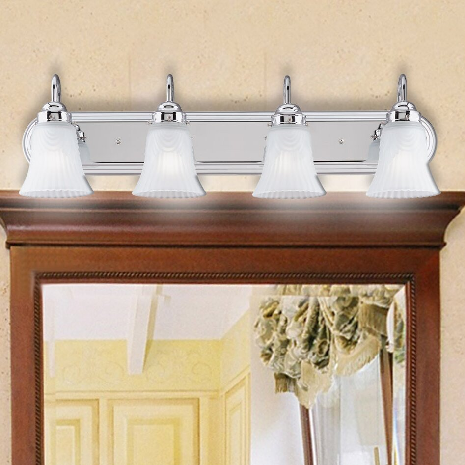 Westinghouse lighting 4 light bathroom vanity light for Bathroom vanity lights