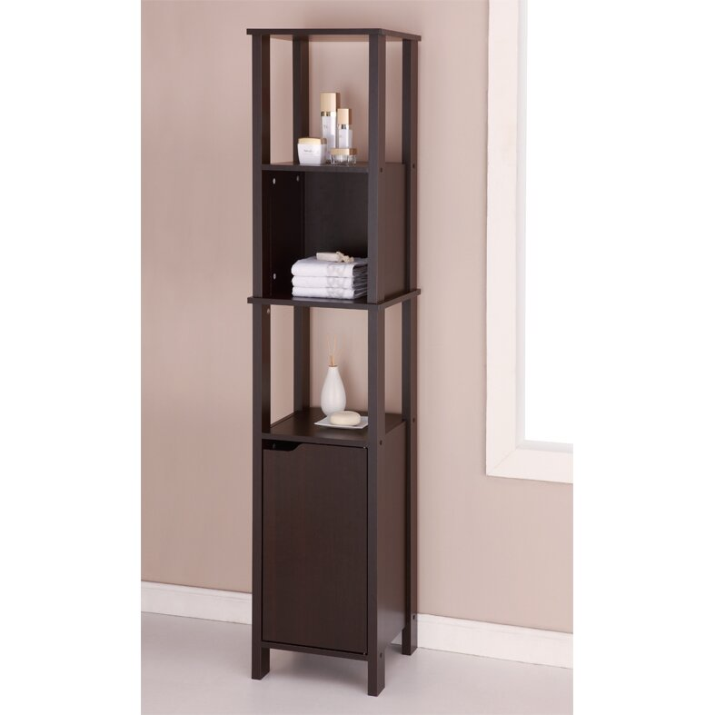 Oia ambassador 14 1 x 67 free standing linen tower - Free standing linen cabinets for bathroom ...