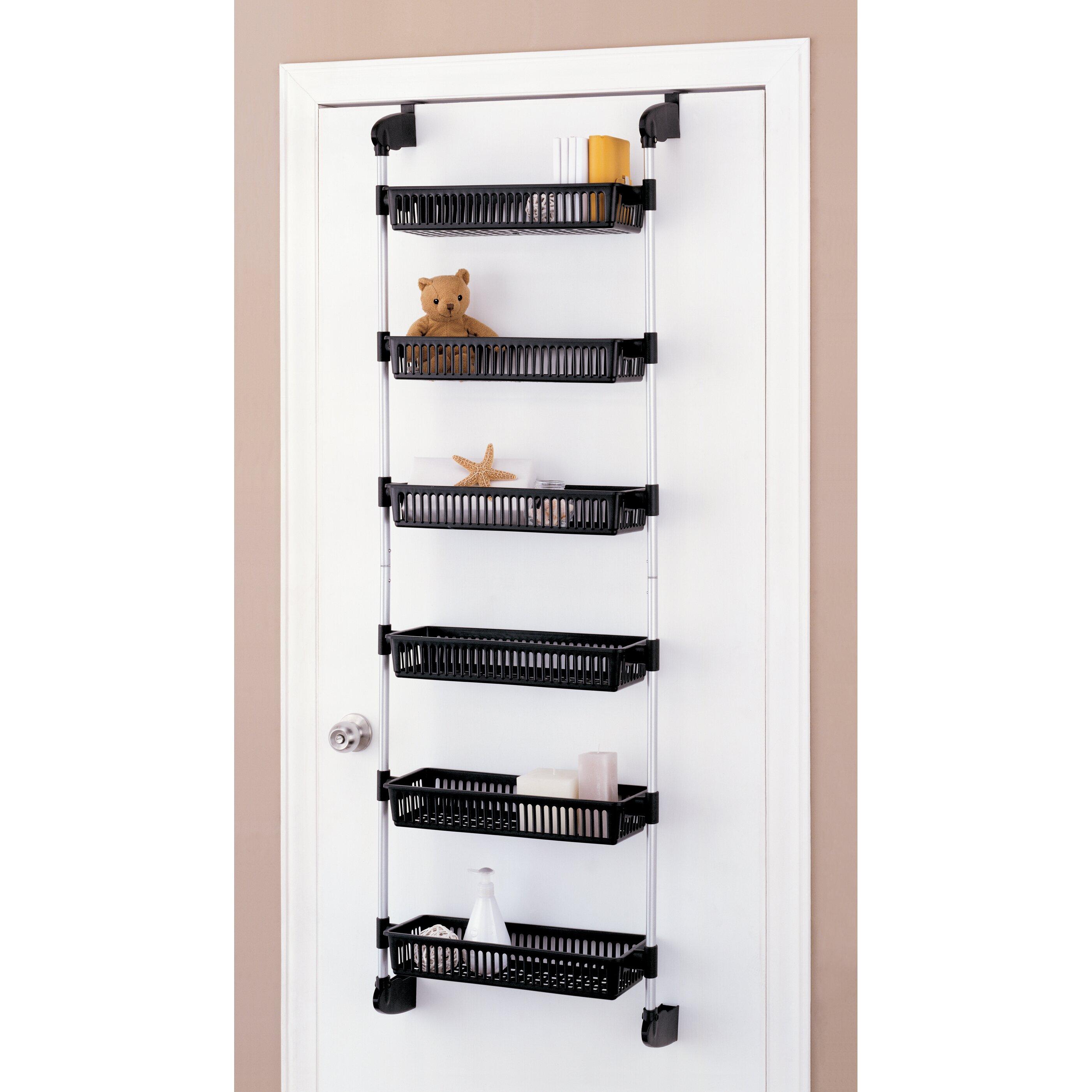 overdoor 6 shelf cabinet storage bin unit wayfair. Black Bedroom Furniture Sets. Home Design Ideas
