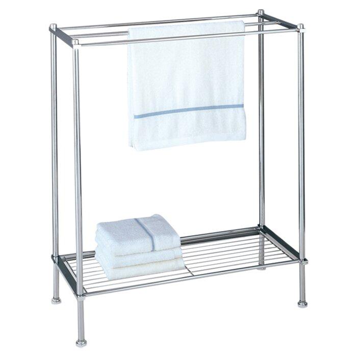 metro freestanding towel rack wayfair. Black Bedroom Furniture Sets. Home Design Ideas