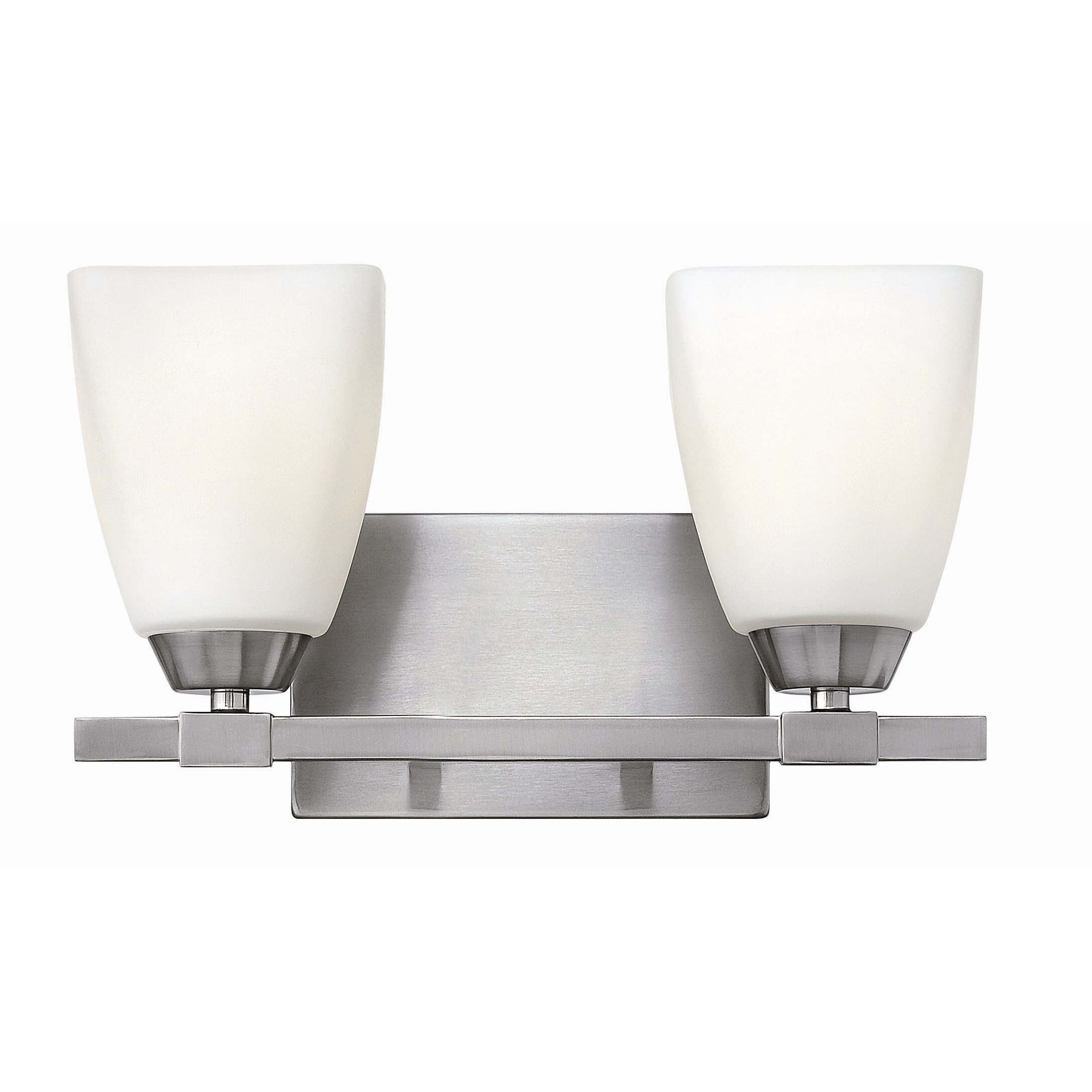Hinkley lighting jordan 2 light bath vanity light for Hinkley bathroom vanity lighting
