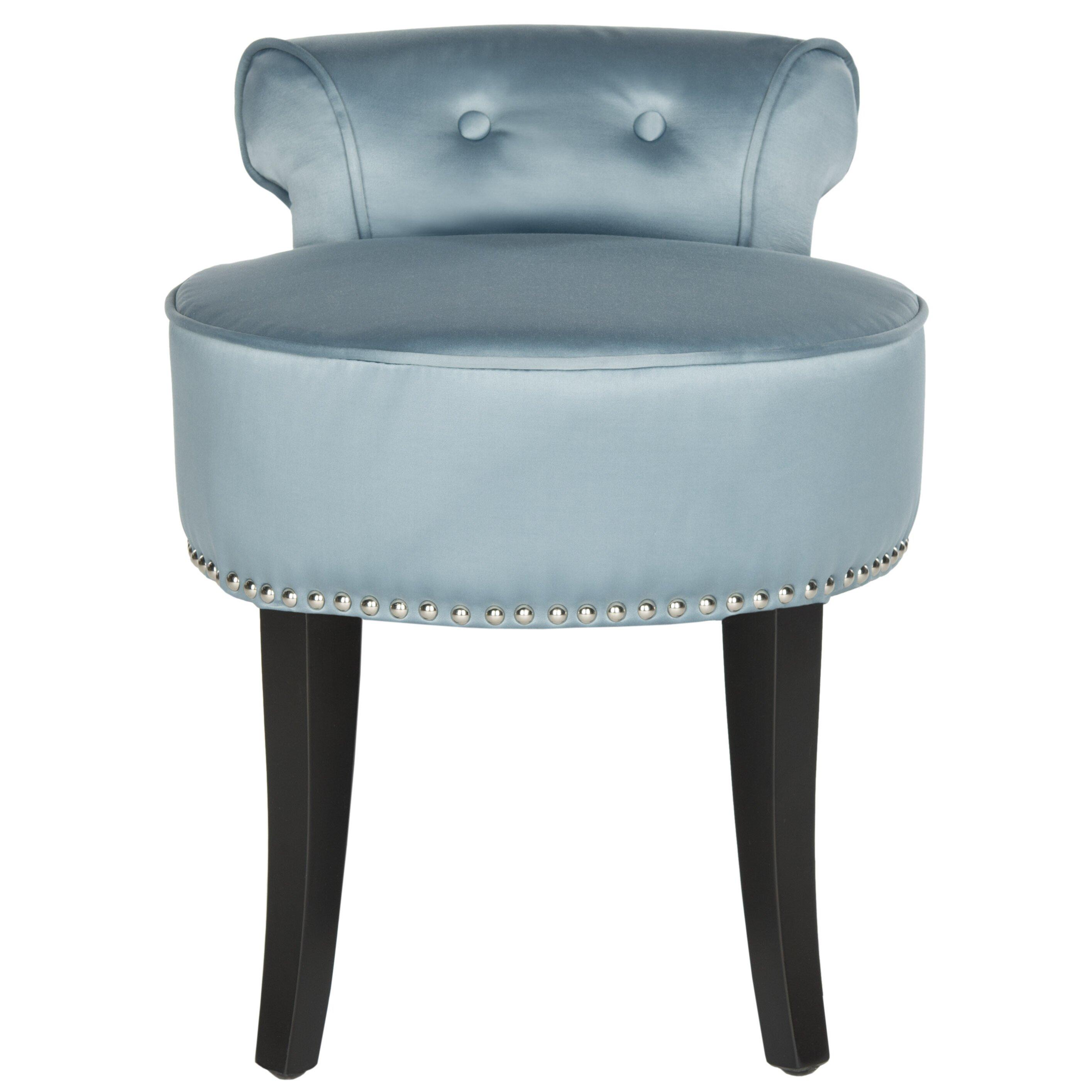 safavieh georgia vanity stool reviews wayfair. Black Bedroom Furniture Sets. Home Design Ideas