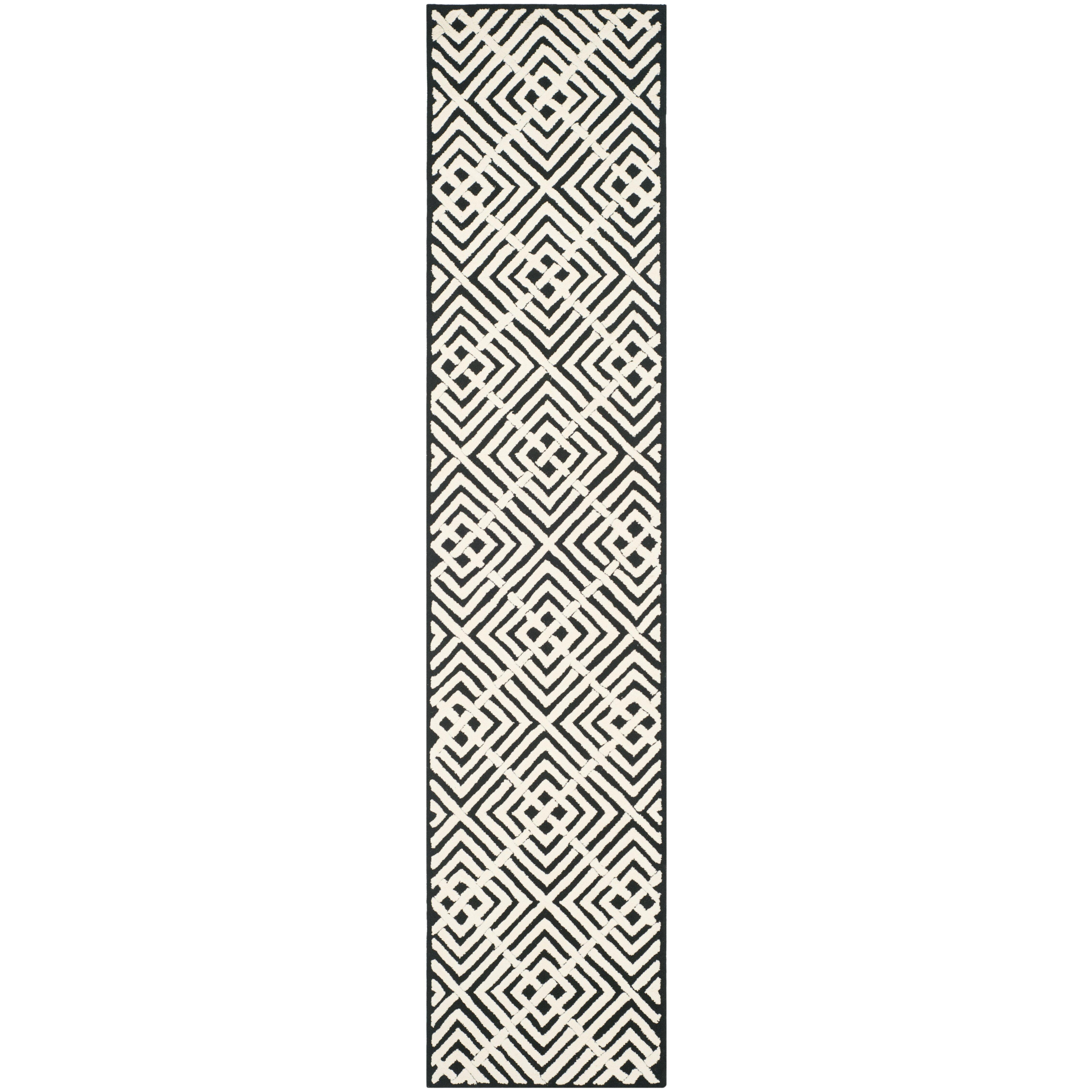 Black And White Geometric Kitchen Rug: Safavieh Newport Black/White Geometric Area Rug & Reviews