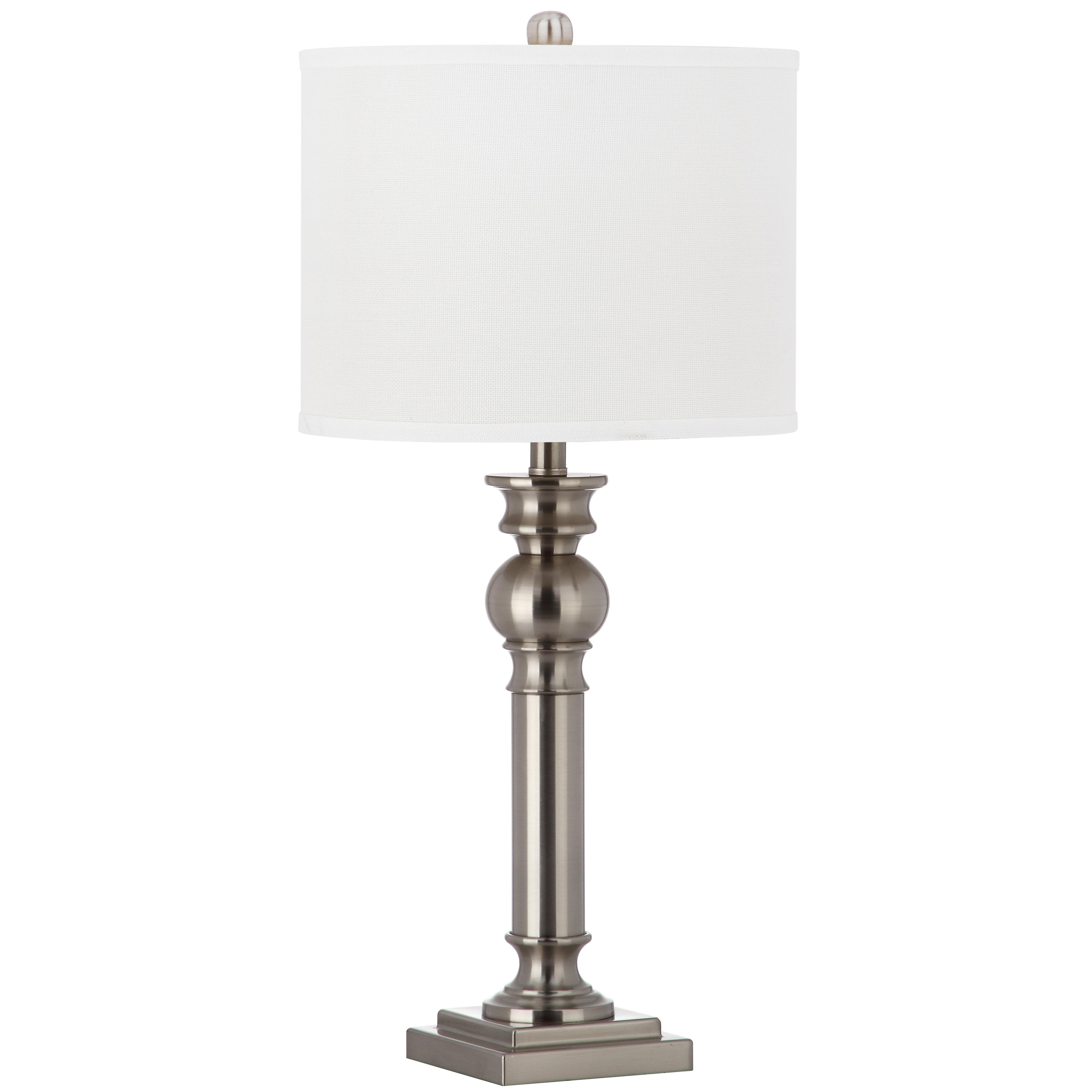 safavieh argos column h table lamp with drum shade. Black Bedroom Furniture Sets. Home Design Ideas