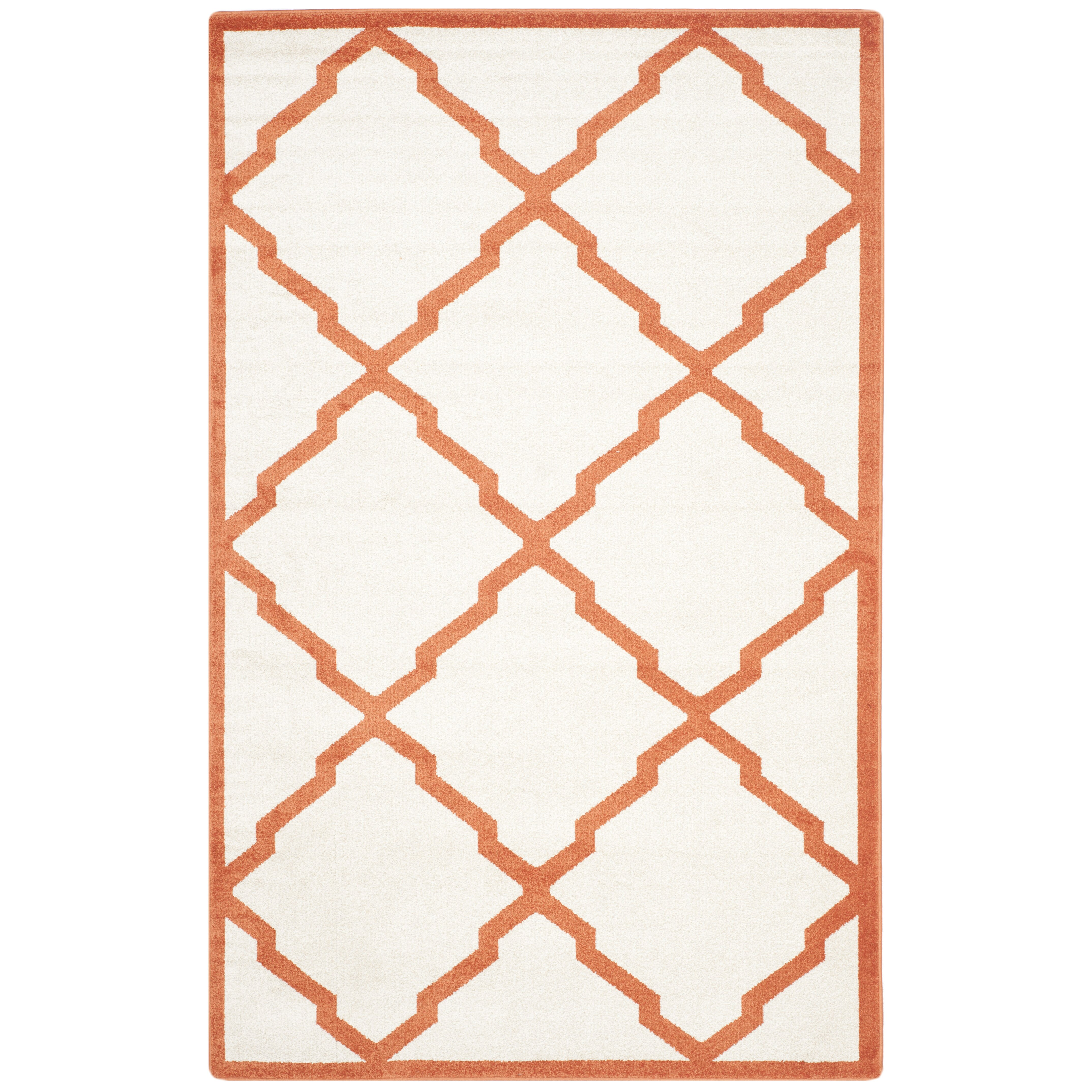 Amherst Beige Orange Indoor Outdoor Area Rug