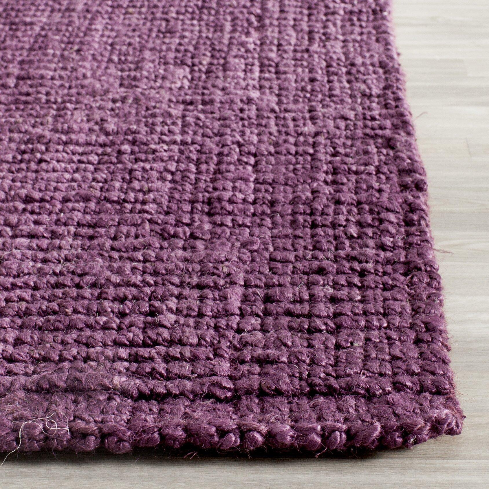 Lavender Rug: Natural Fiber Purple Rug