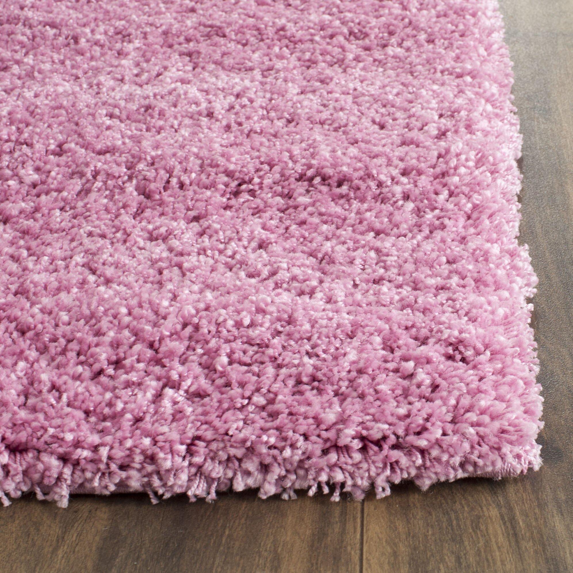 Shag Pink Indoor Area Rug