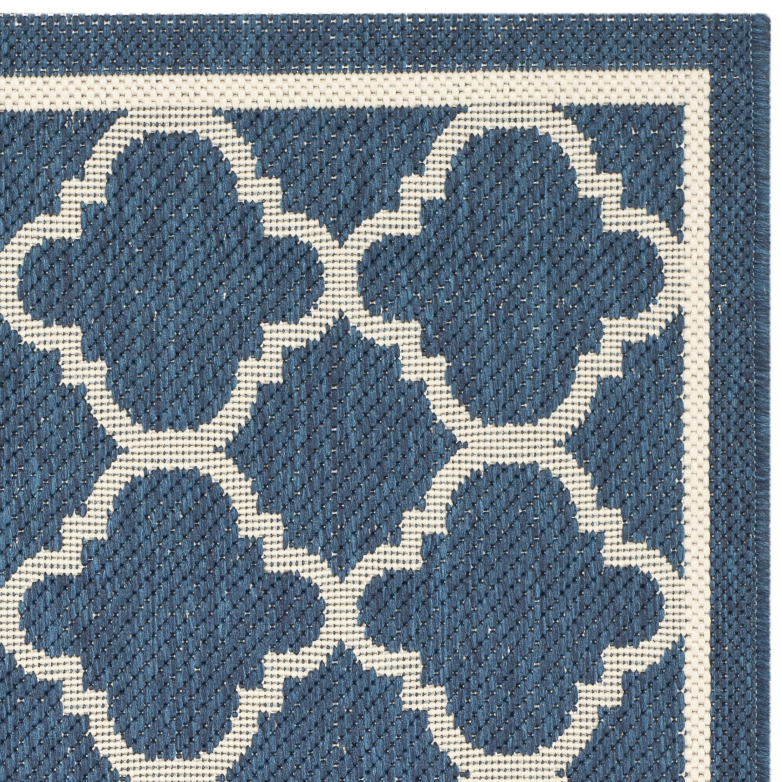 Safavieh Courtyard Grantham Navy Beige Outdoor Area Rug