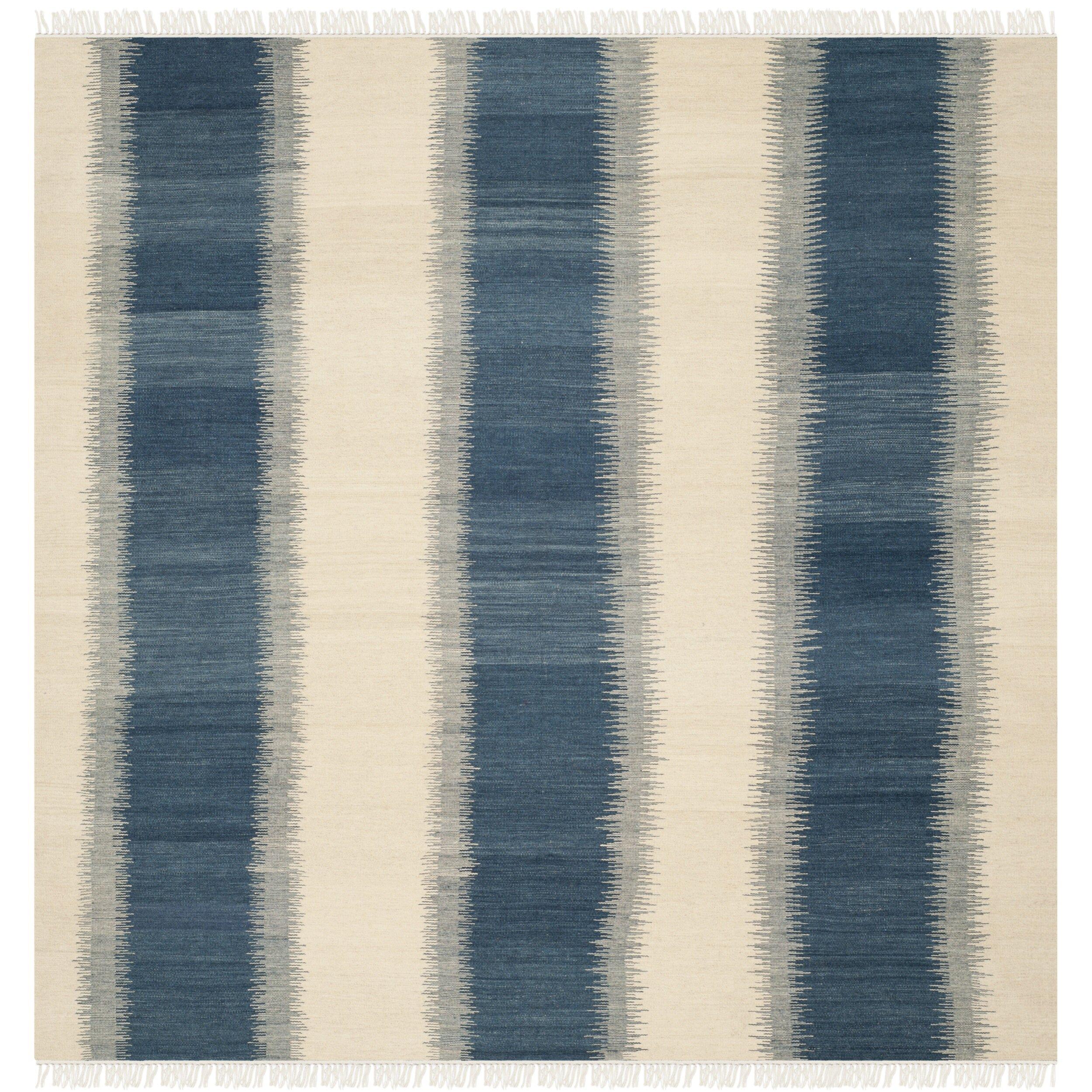 Safavieh Navajo Kilim Blue & Ivory Area Rug & Reviews