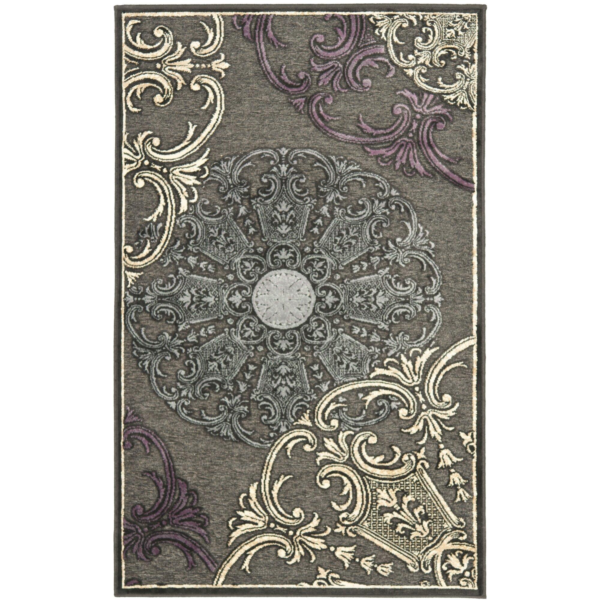 Safavieh Paradise Charcoal Floral Rug & Reviews