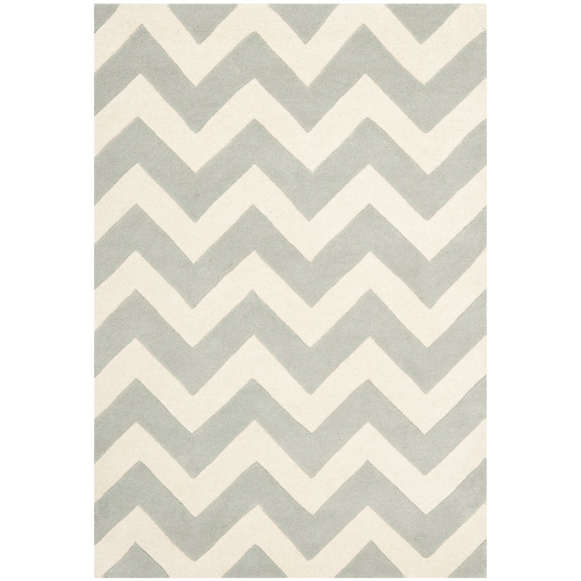 Safavieh Chatham Chevron Grey Ivory Area Rug Amp Reviews