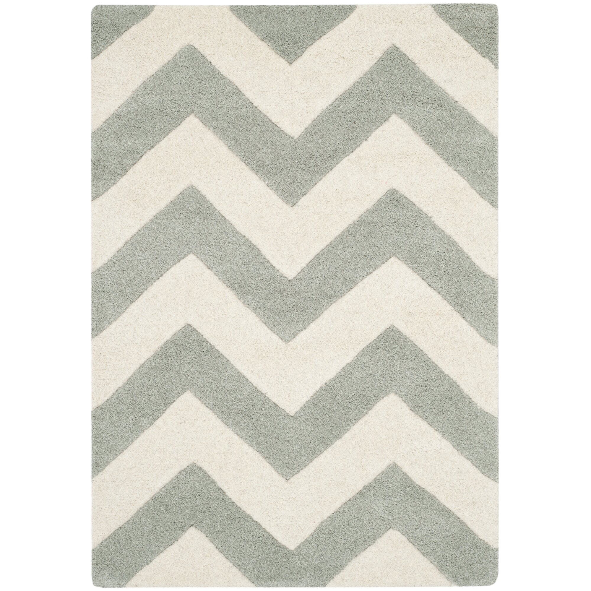 Chevron Kitchen Rug: Safavieh Chatham Chevron Grey/Ivory Area Rug & Reviews