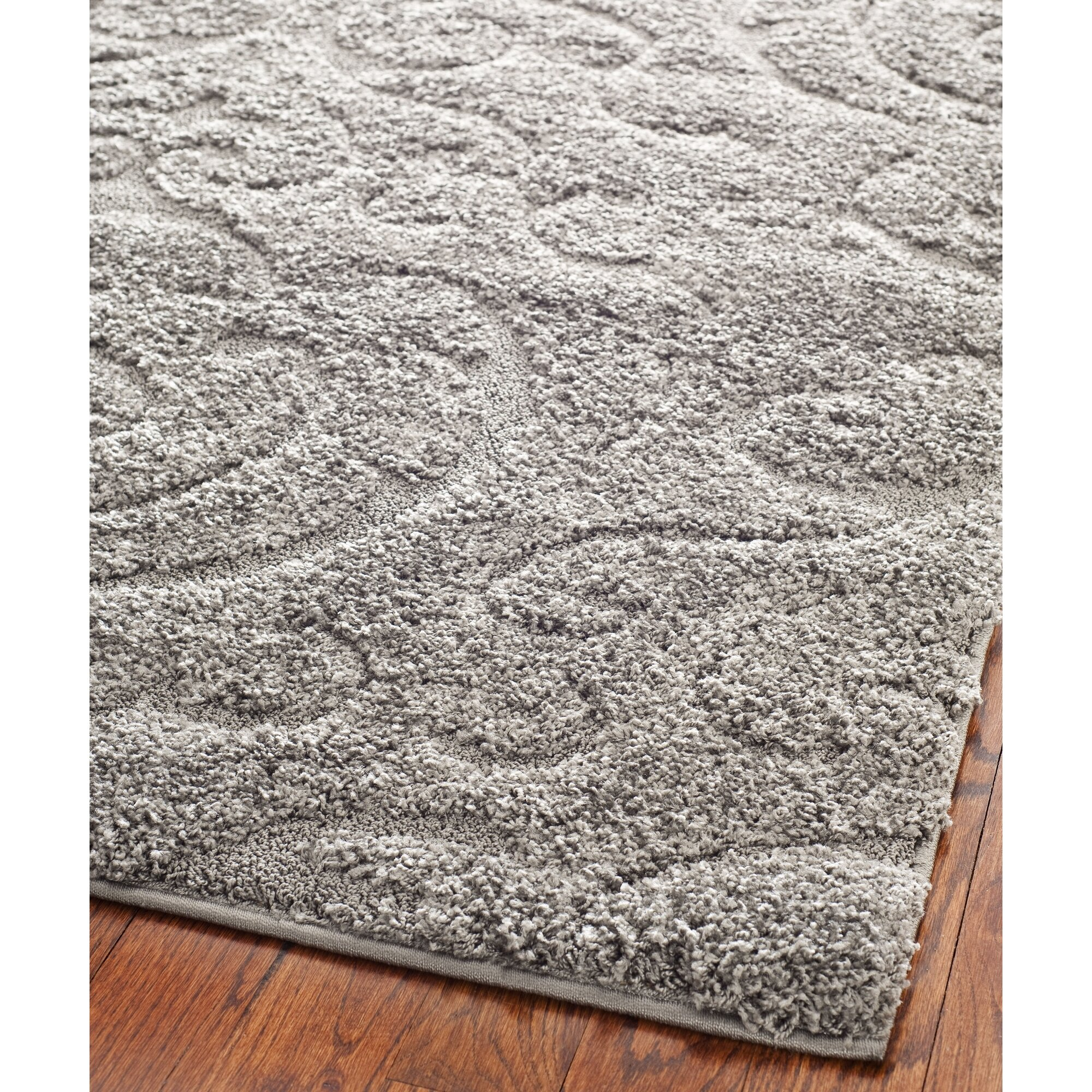Florida shag light gray beige area rug wayfair Gray shag rug