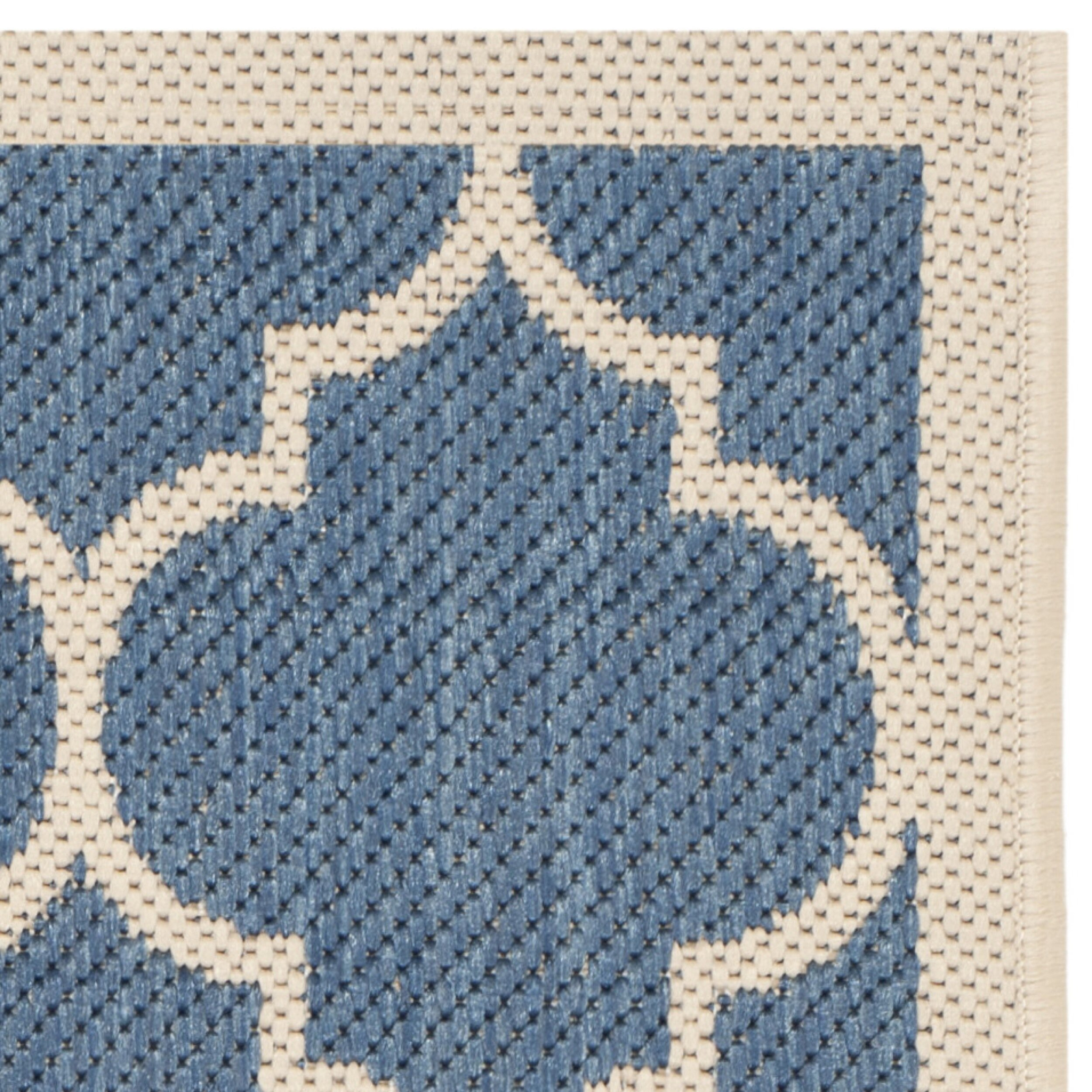 Safavieh Courtyard Blue Beige Outdoor Area Rug & Reviews
