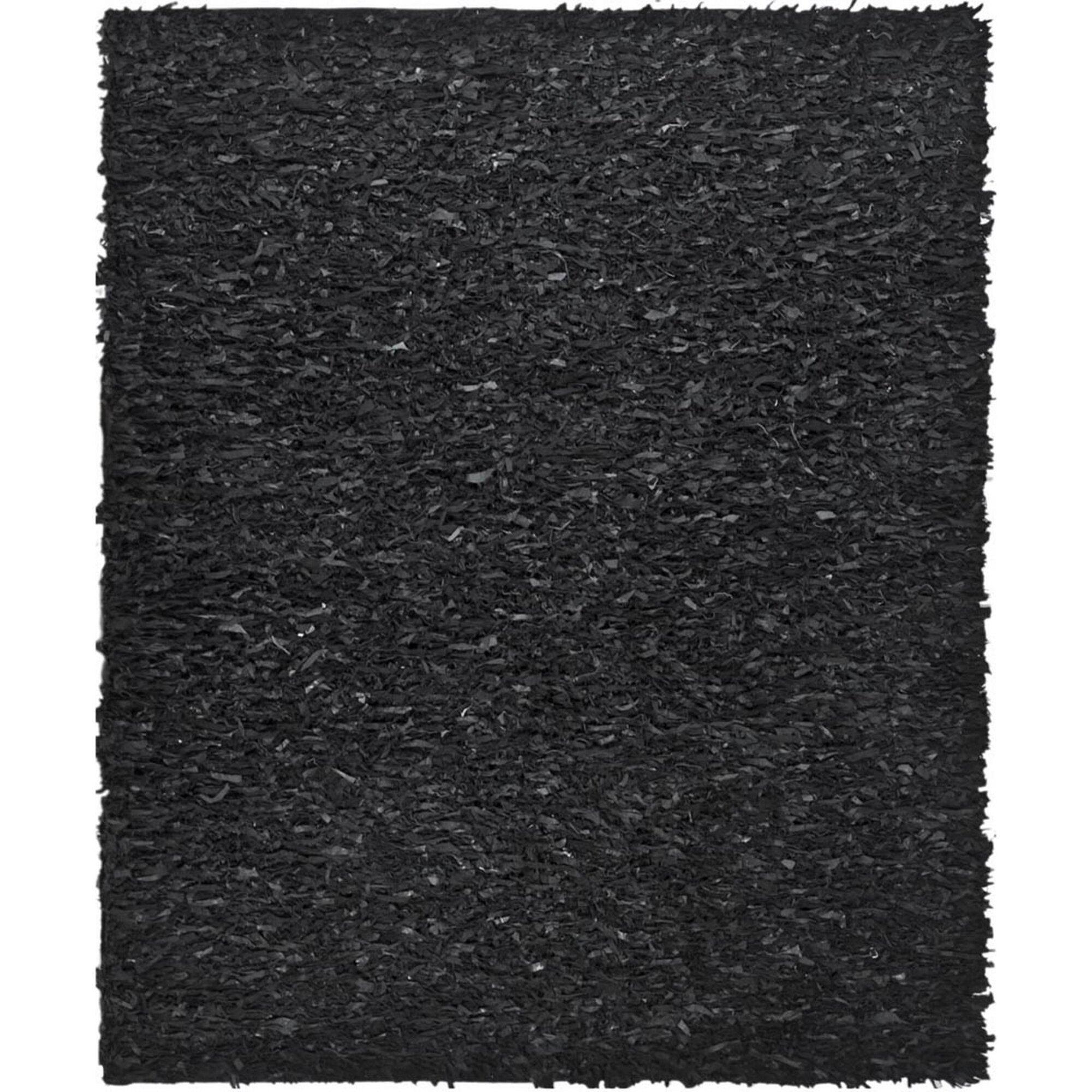Safavieh Leather Shag Black Area Rug I Amp Reviews Wayfair