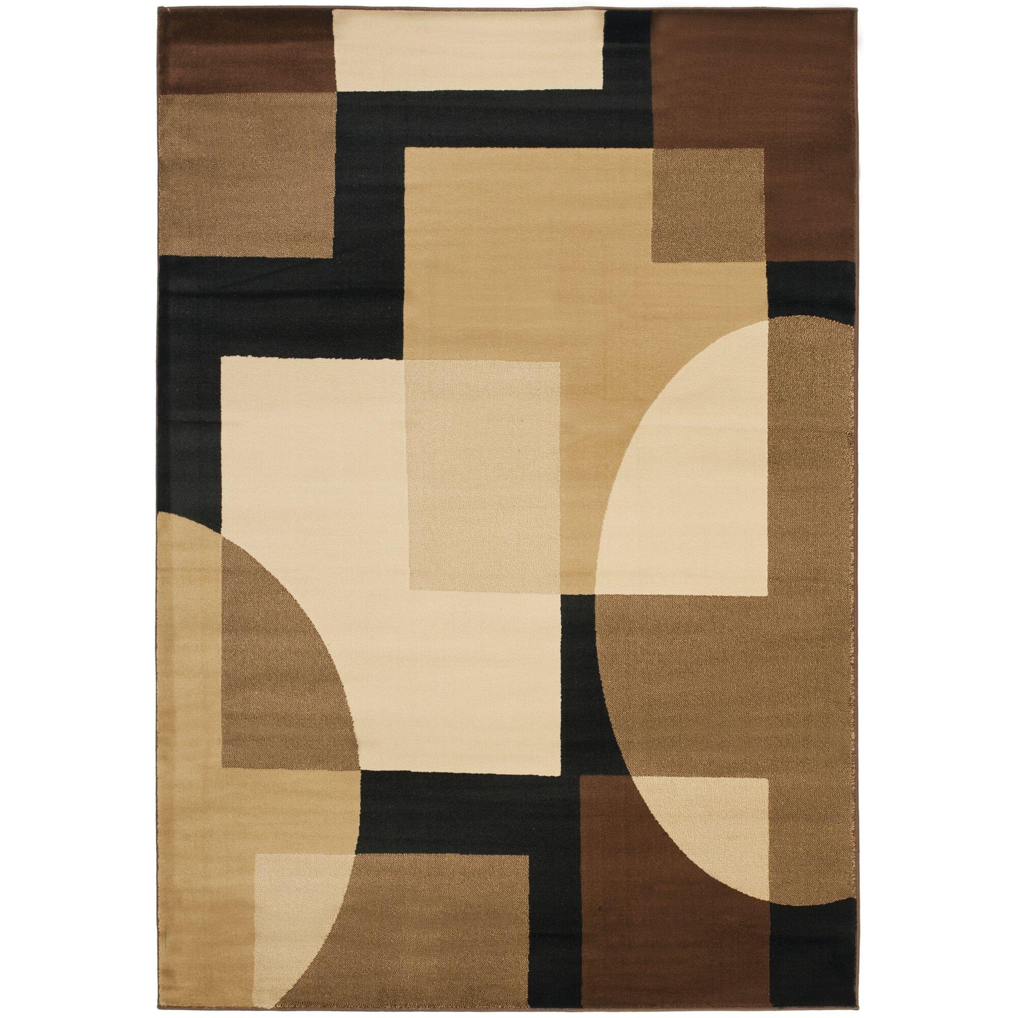Safavieh Porcello Brown Geometric Area Rug