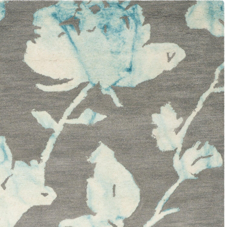 Safavieh Dip Dye Gray Turquoise Area Rug Reviews: Dip Dye Gray/Turquoise Area Rug