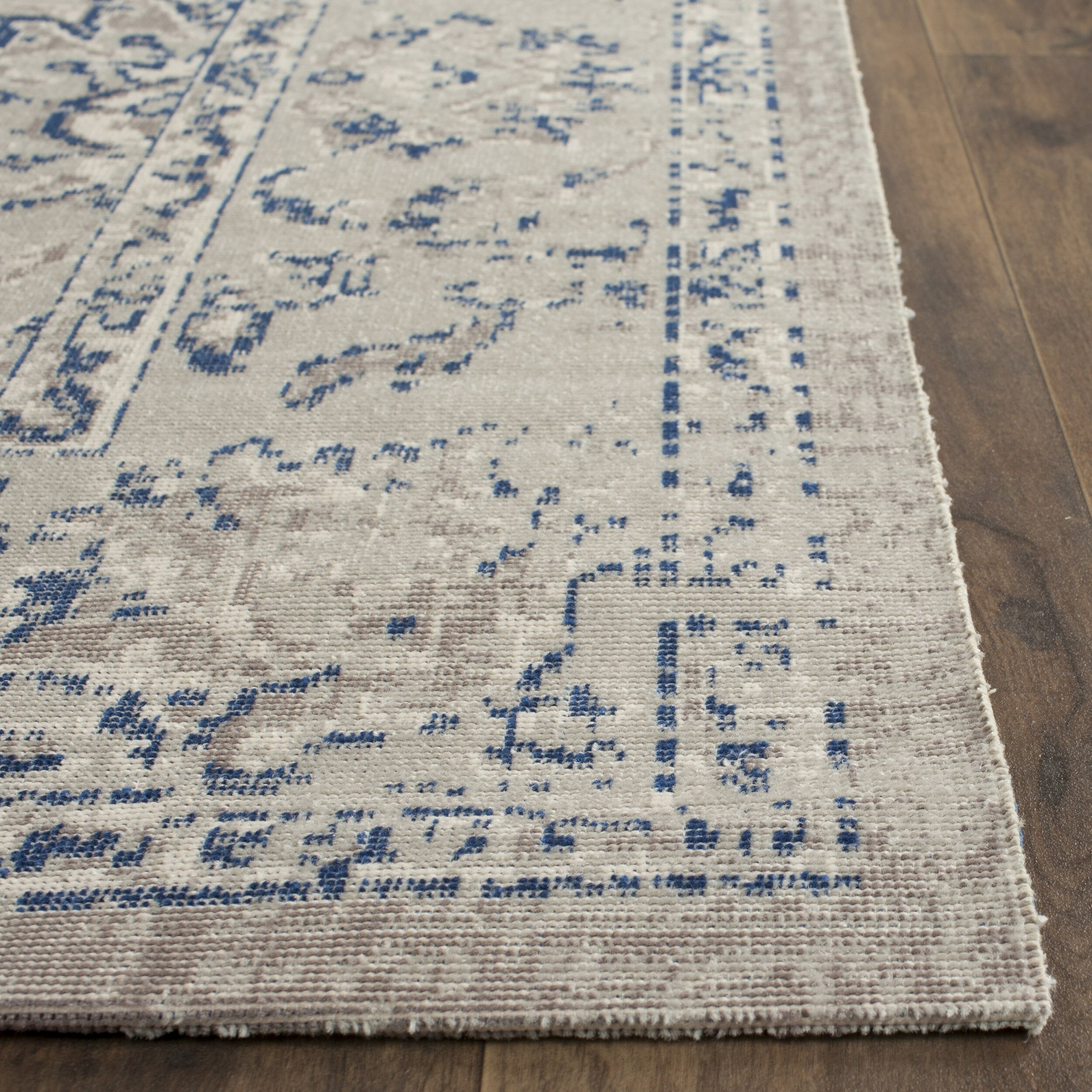 Patina Gray Blue Area Rug Wayfair