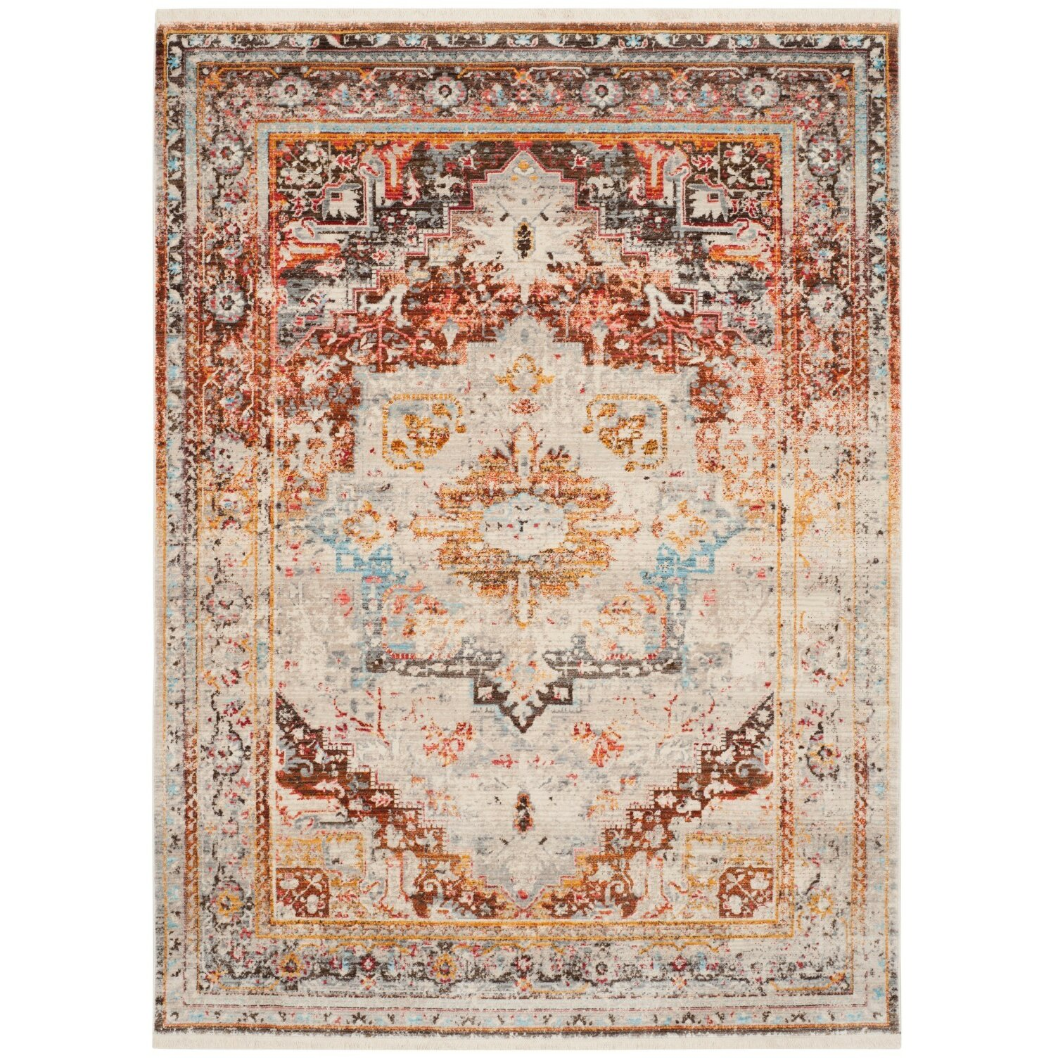 Vintage Looking Area Rugs: Vintage Persian Area Rug