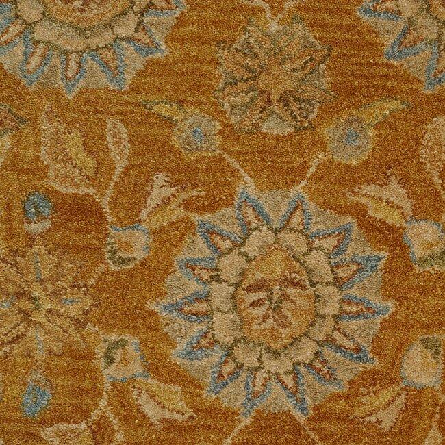 anatolia gold blue area rug wayfair. Black Bedroom Furniture Sets. Home Design Ideas