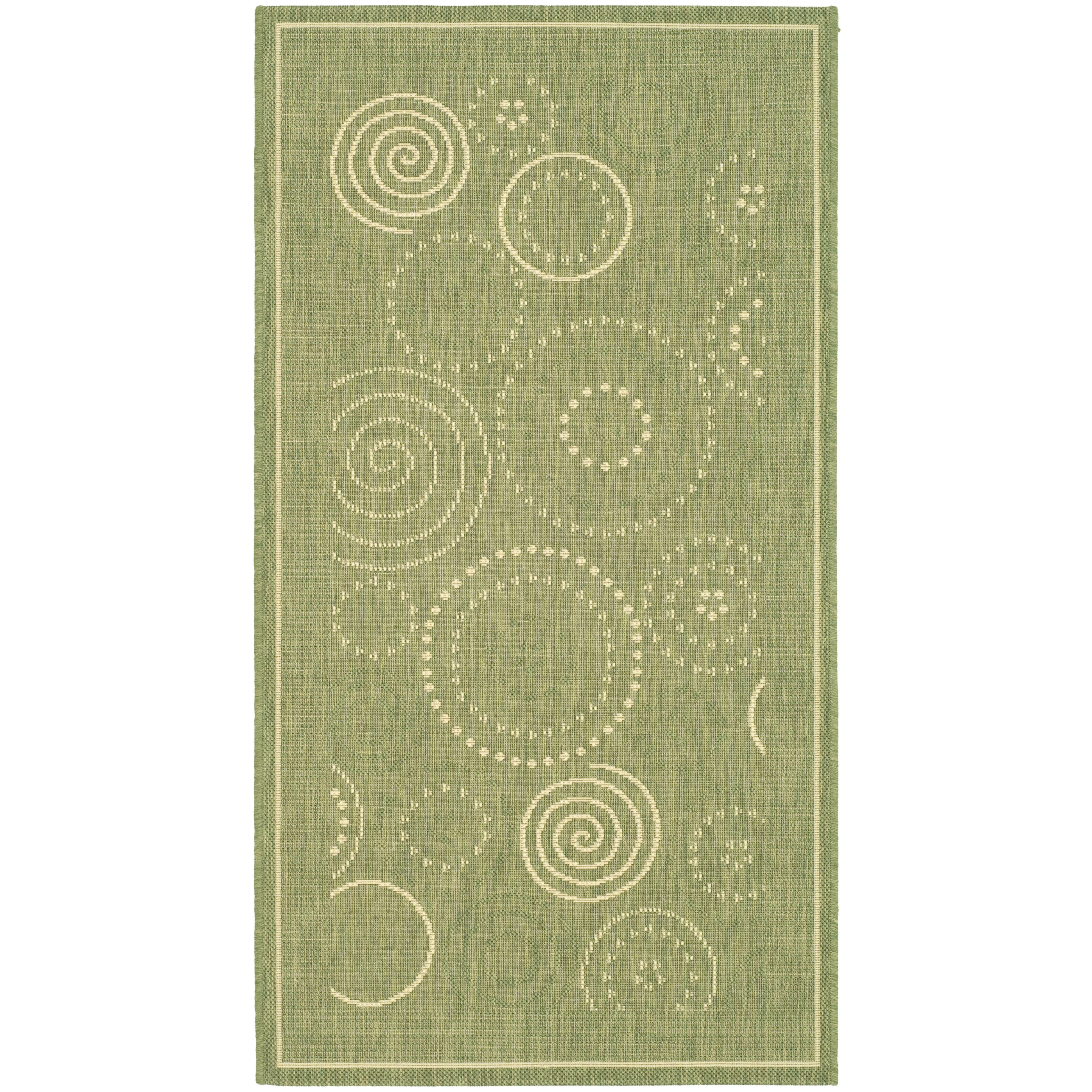 Safavieh Courtyard Olive Outdoor Area Rug & Reviews