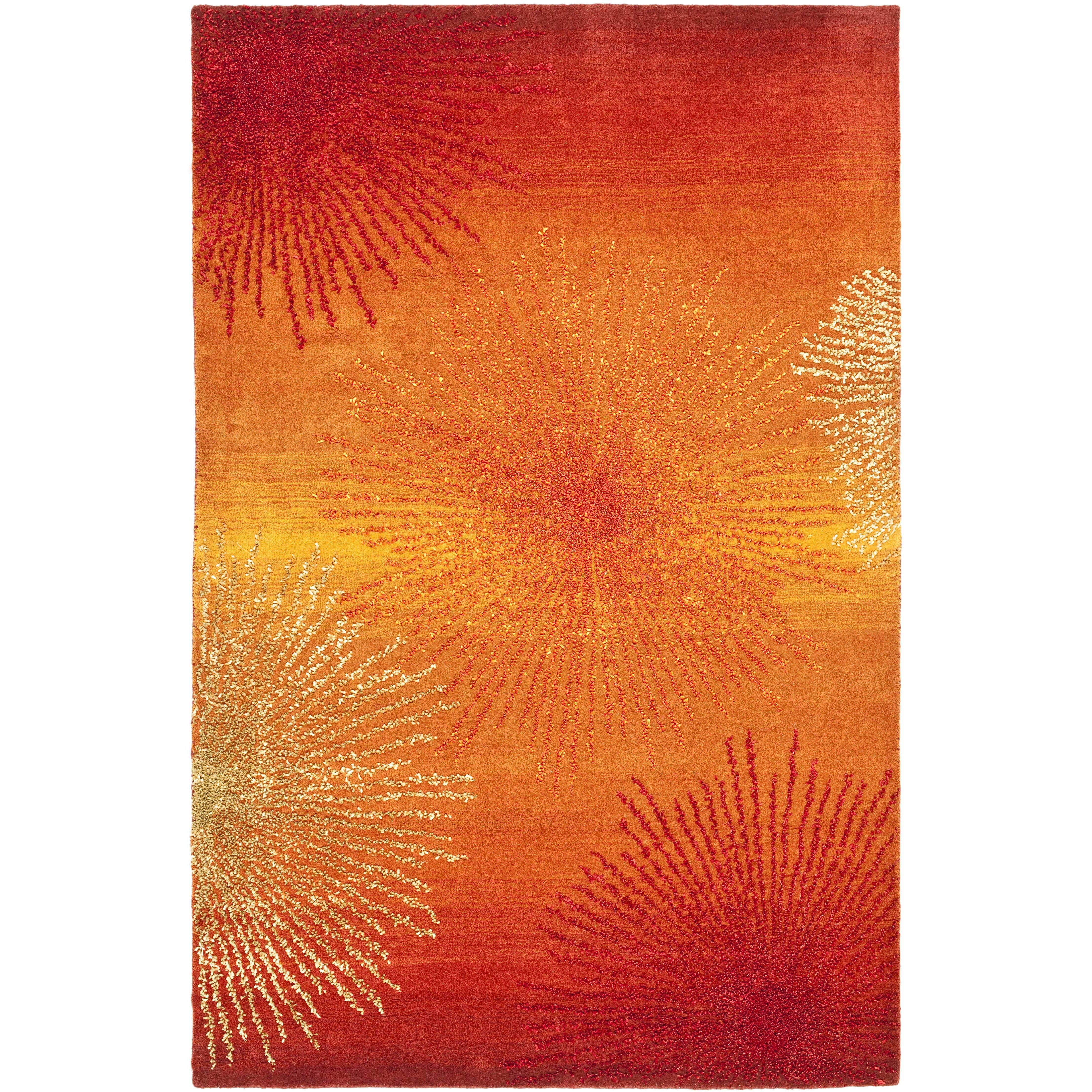 Soho Rust Orange Area Rug Wayfair