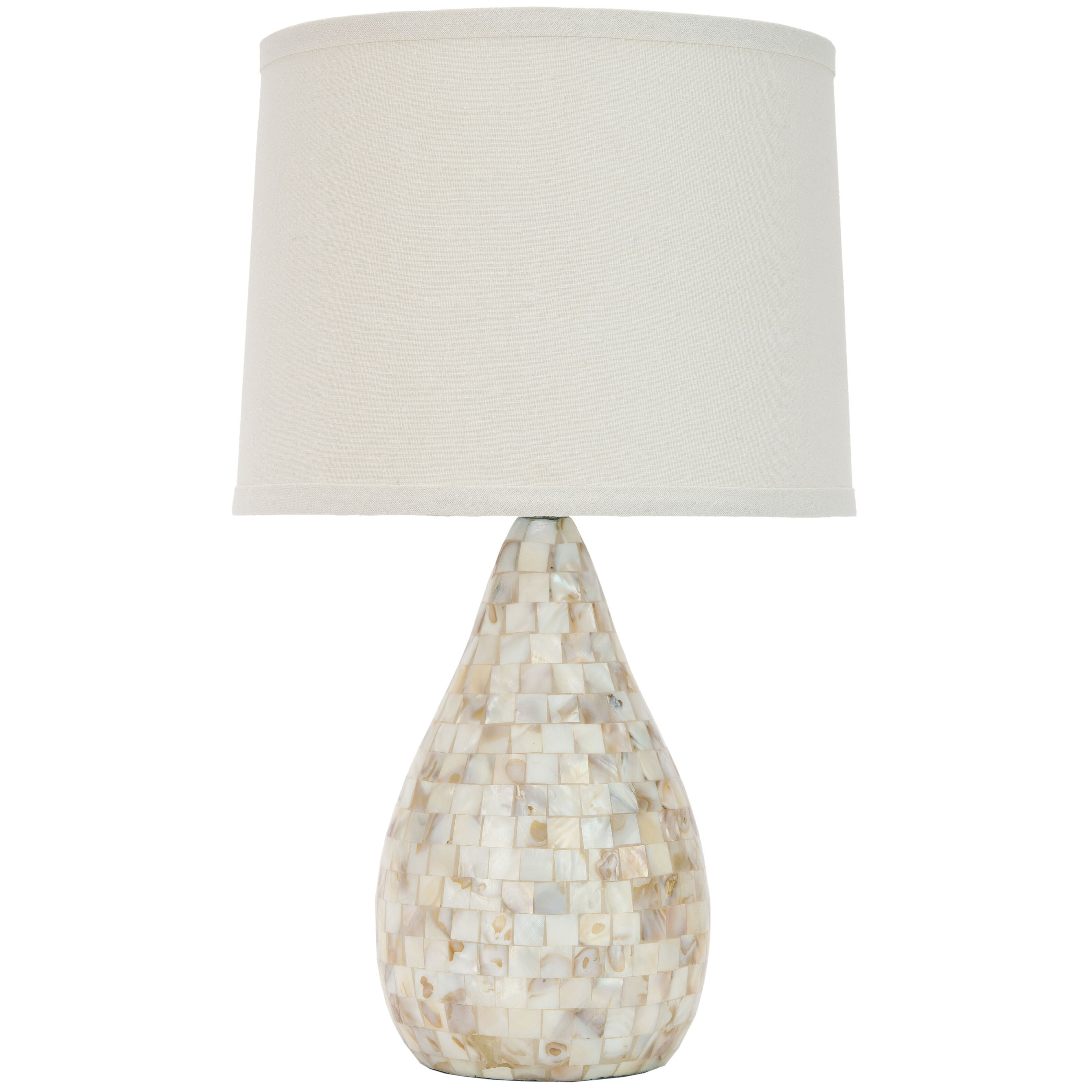 safavieh eleanor mother of pearl inlay h table lamp with drum. Black Bedroom Furniture Sets. Home Design Ideas
