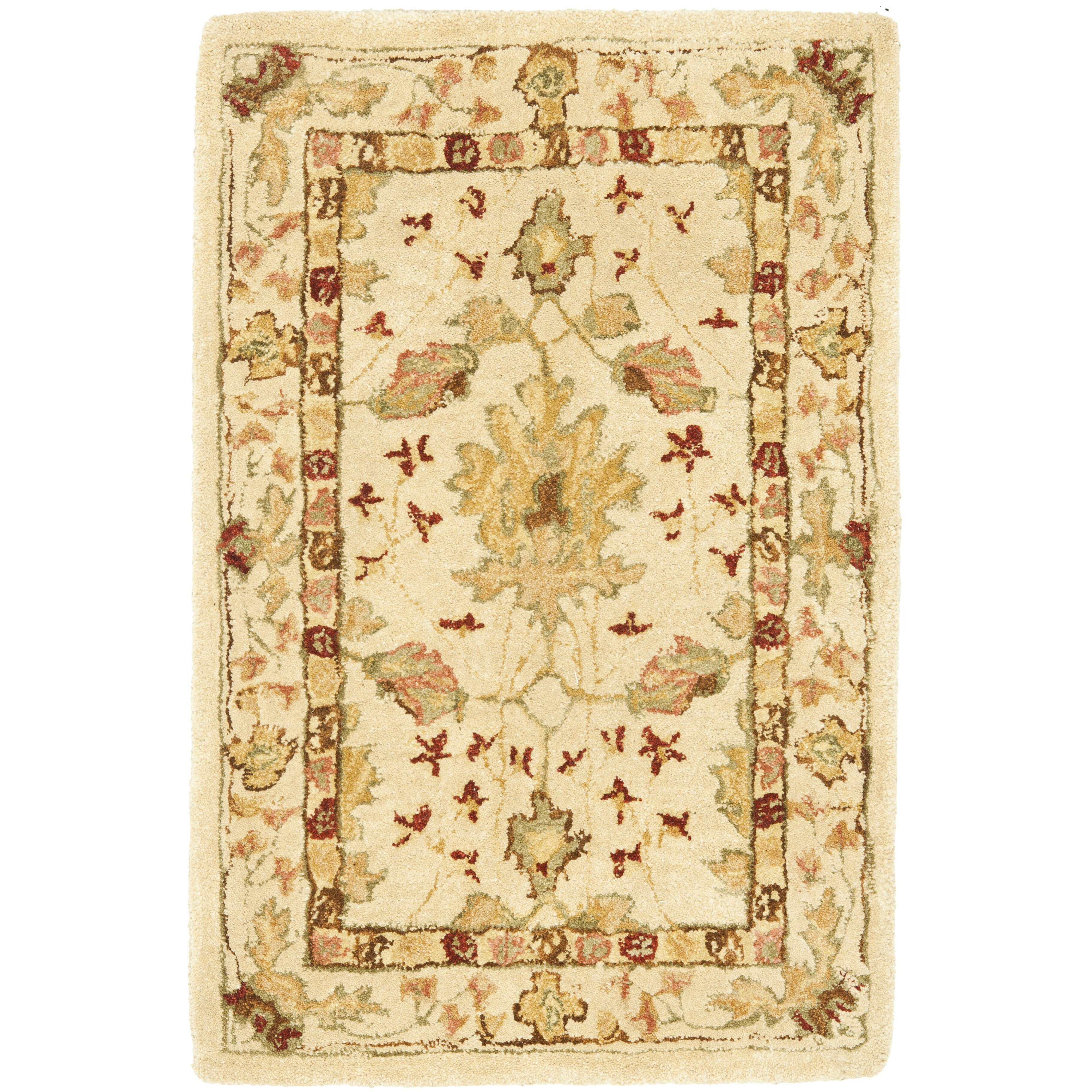 Anatolia cream red area rug wayfair for Cream and red rugs