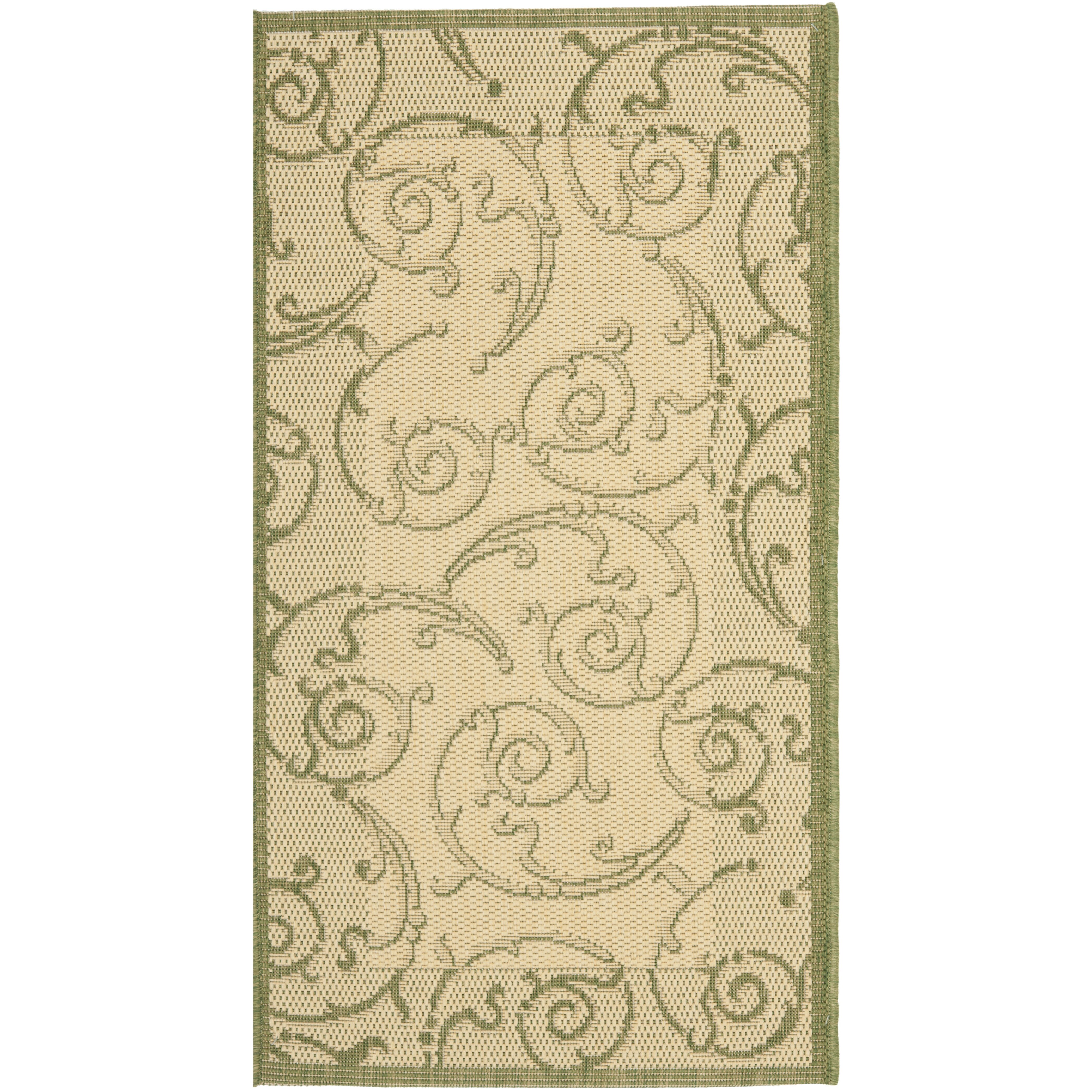 Safavieh Courtyard Natural Olive Outdoor Rug & Reviews