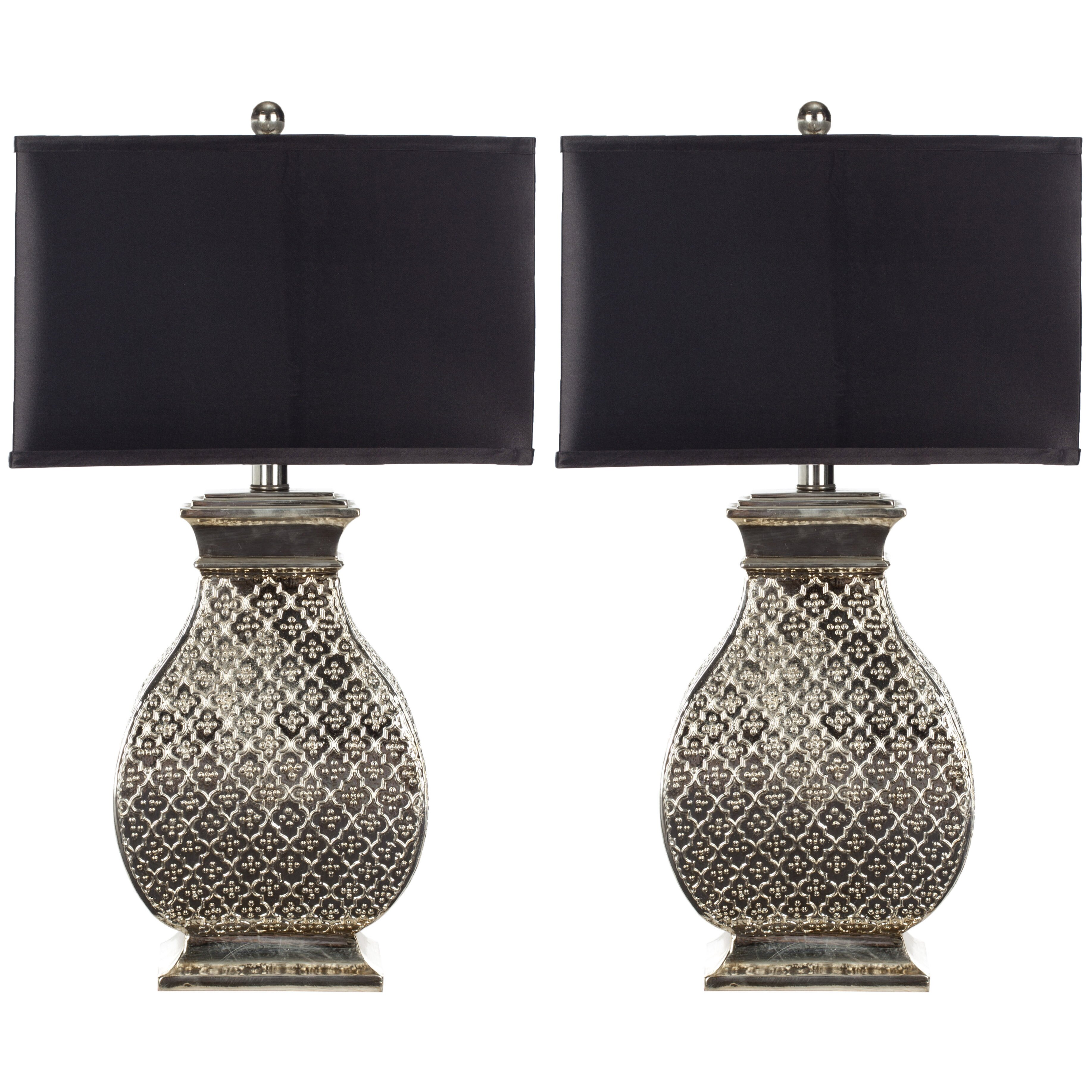 light 30 h table lamp with rectangular shade by safavieh. Black Bedroom Furniture Sets. Home Design Ideas