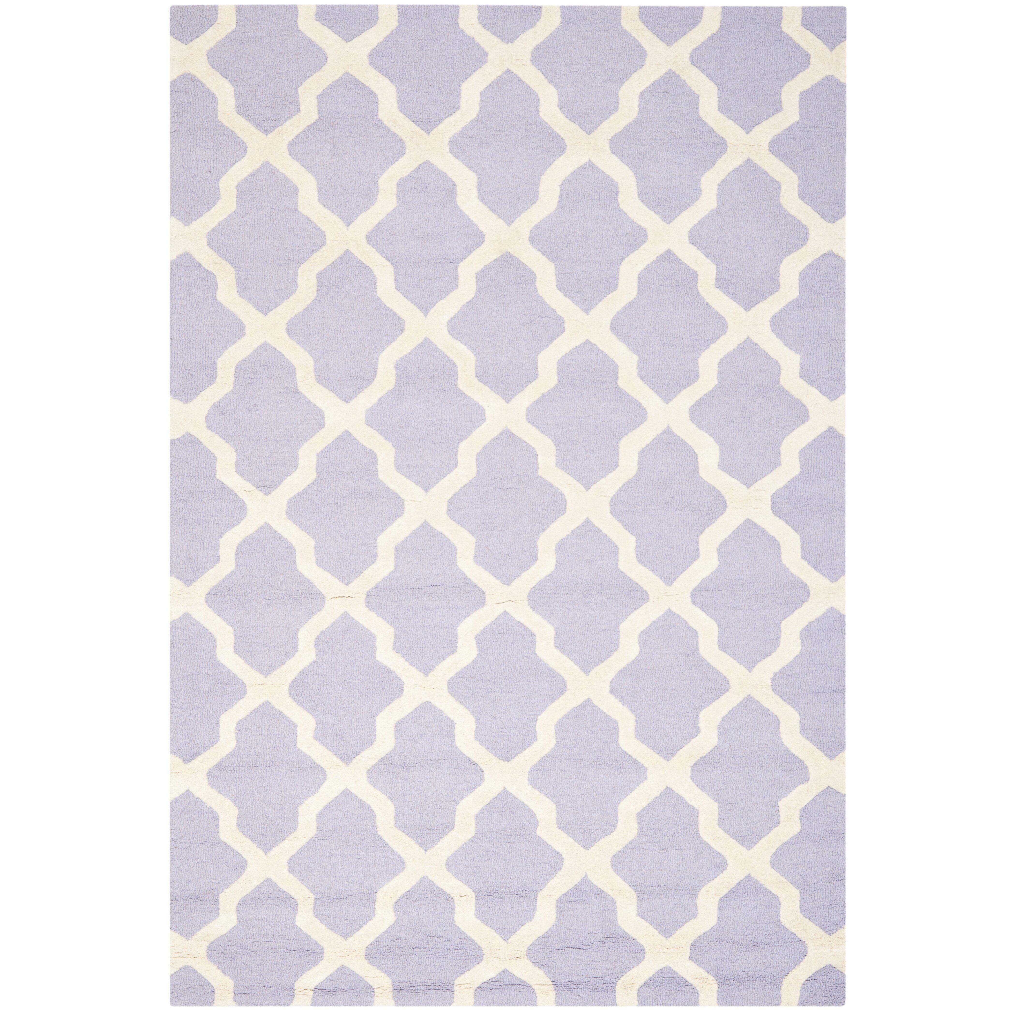 Lavender Rug: Cambridge Lavender & Ivory Area Rug