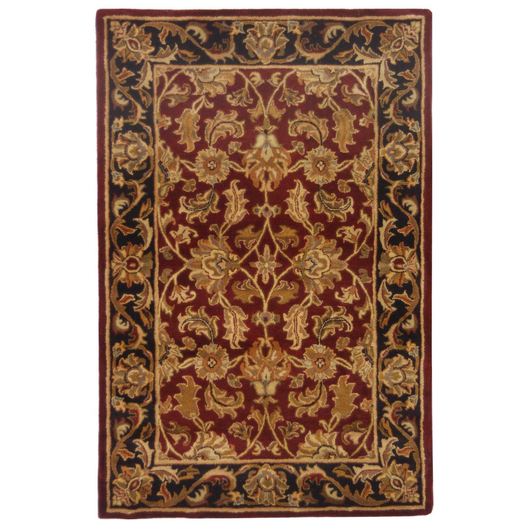 Safavieh Heritage Red & Black Floral Area Rug & Reviews
