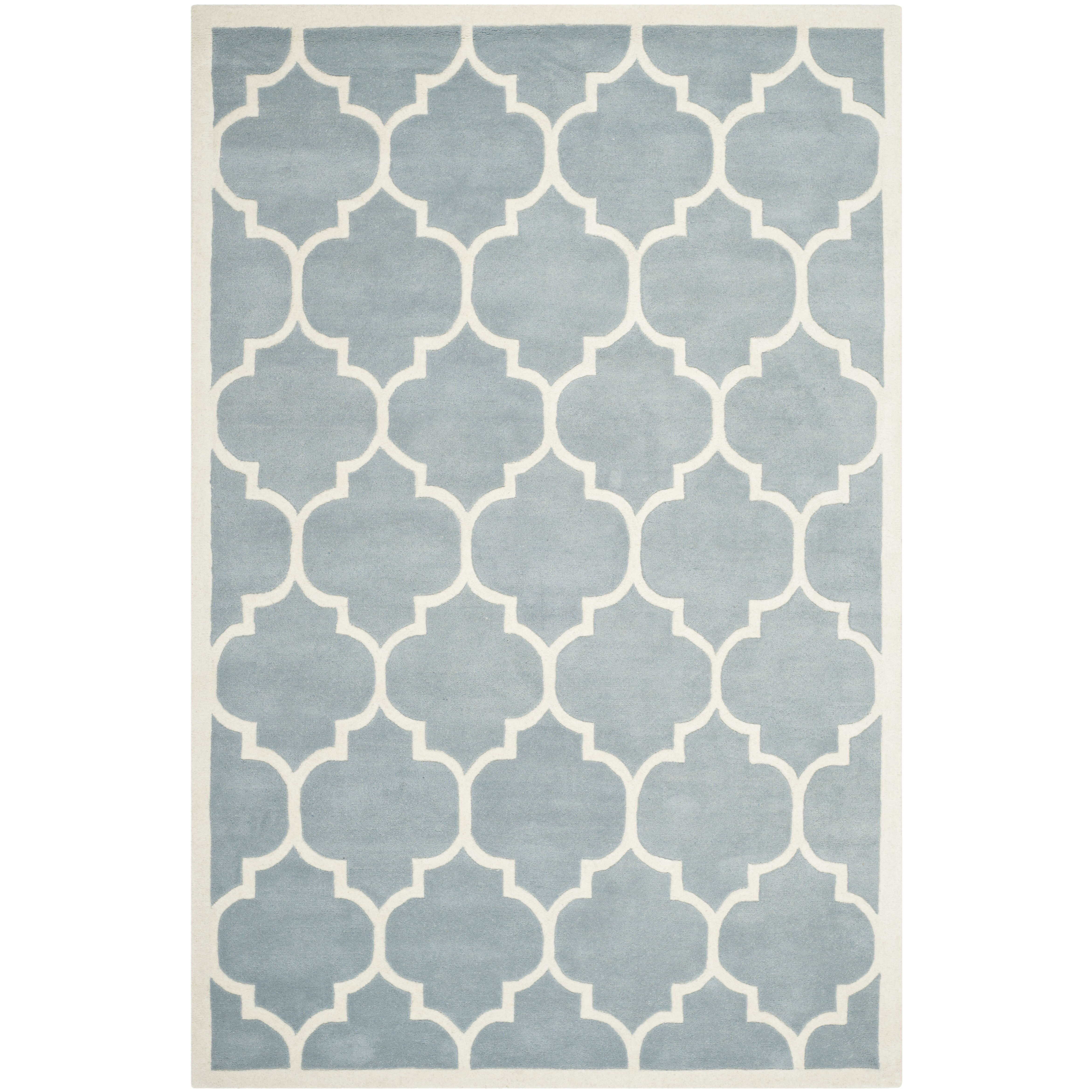 Safavieh Chatham Blue/Ivory Moroccan Area Rug & Reviews